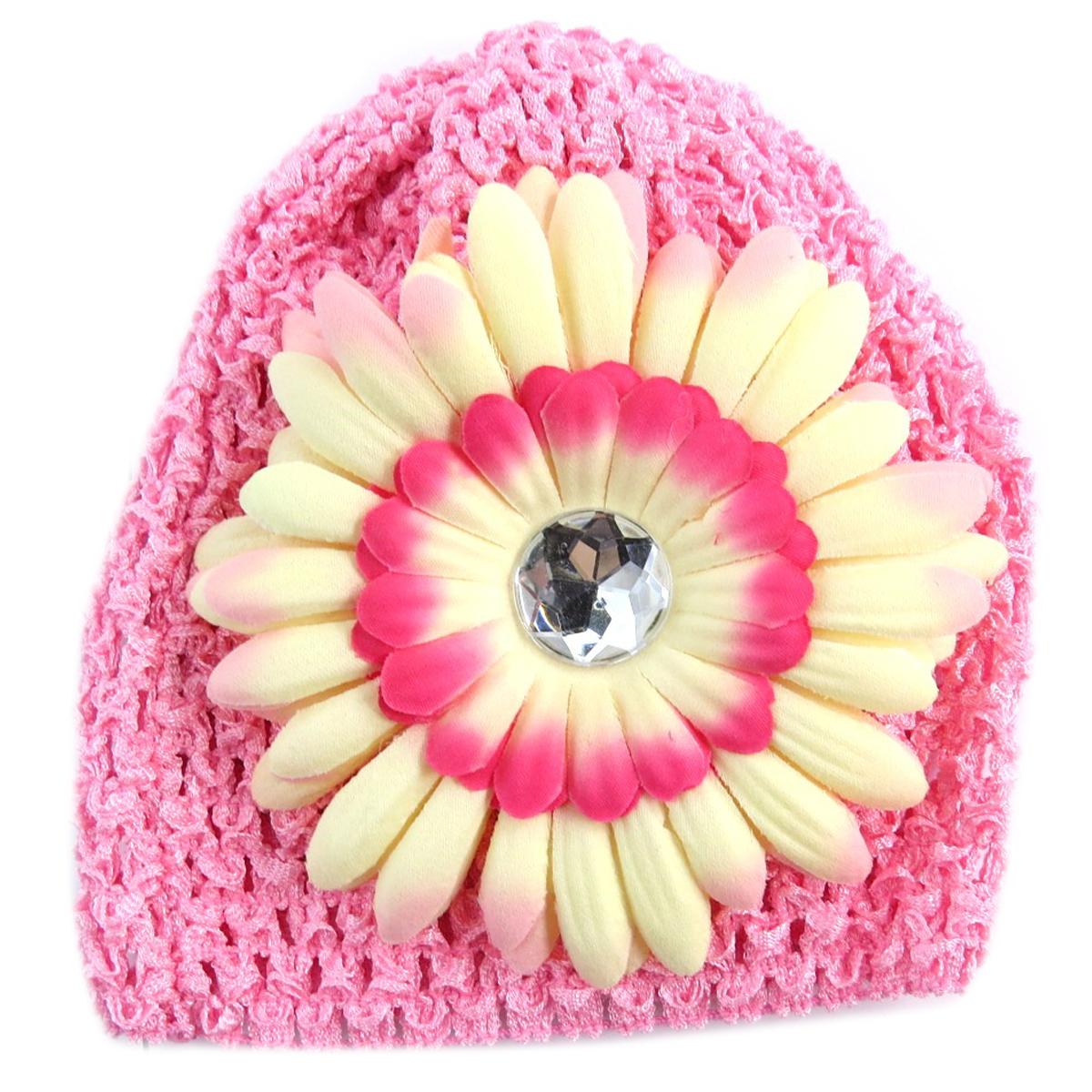 Bonnet enfant \'Petite Lily\' rose - [Q5230]