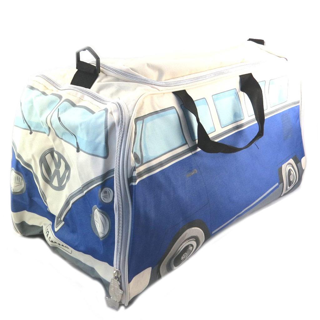 Sac de sport \'Volkswagen\' bleu beige - 63x30x28 cm - [P9081]