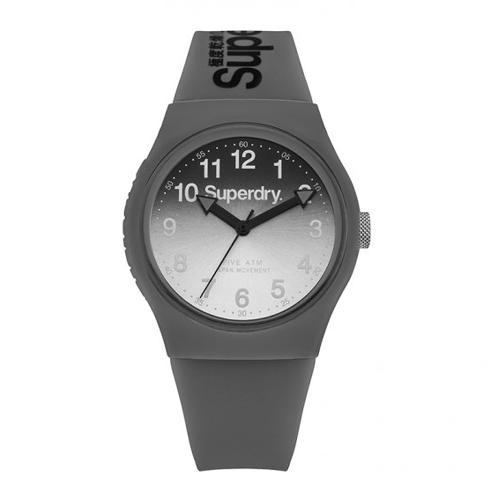 Montre silicone \'Superdry\' gris - 40 mm - [P9124]