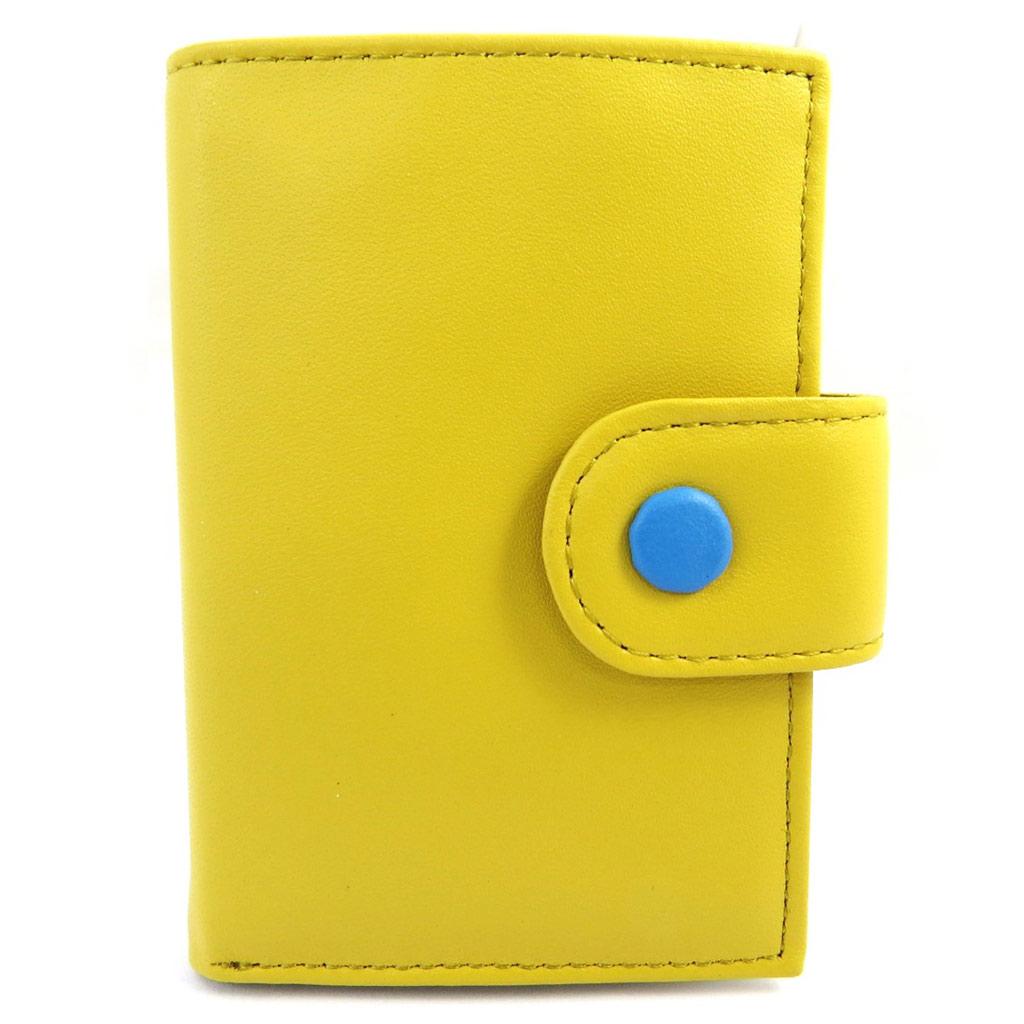 Porte-cartes \'Les Bicolores\' jaune bleu - [L8717]