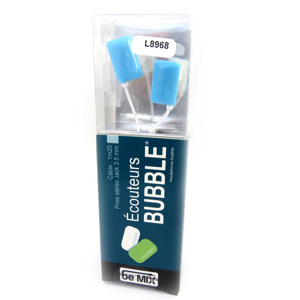 Ecouteurs \'Bubble\' bleu (be mix) - [L8968]