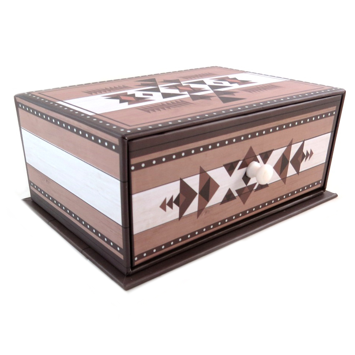Coffret à Bijoux \'Boho\' marron - 16x115x65 cm - [P9412]