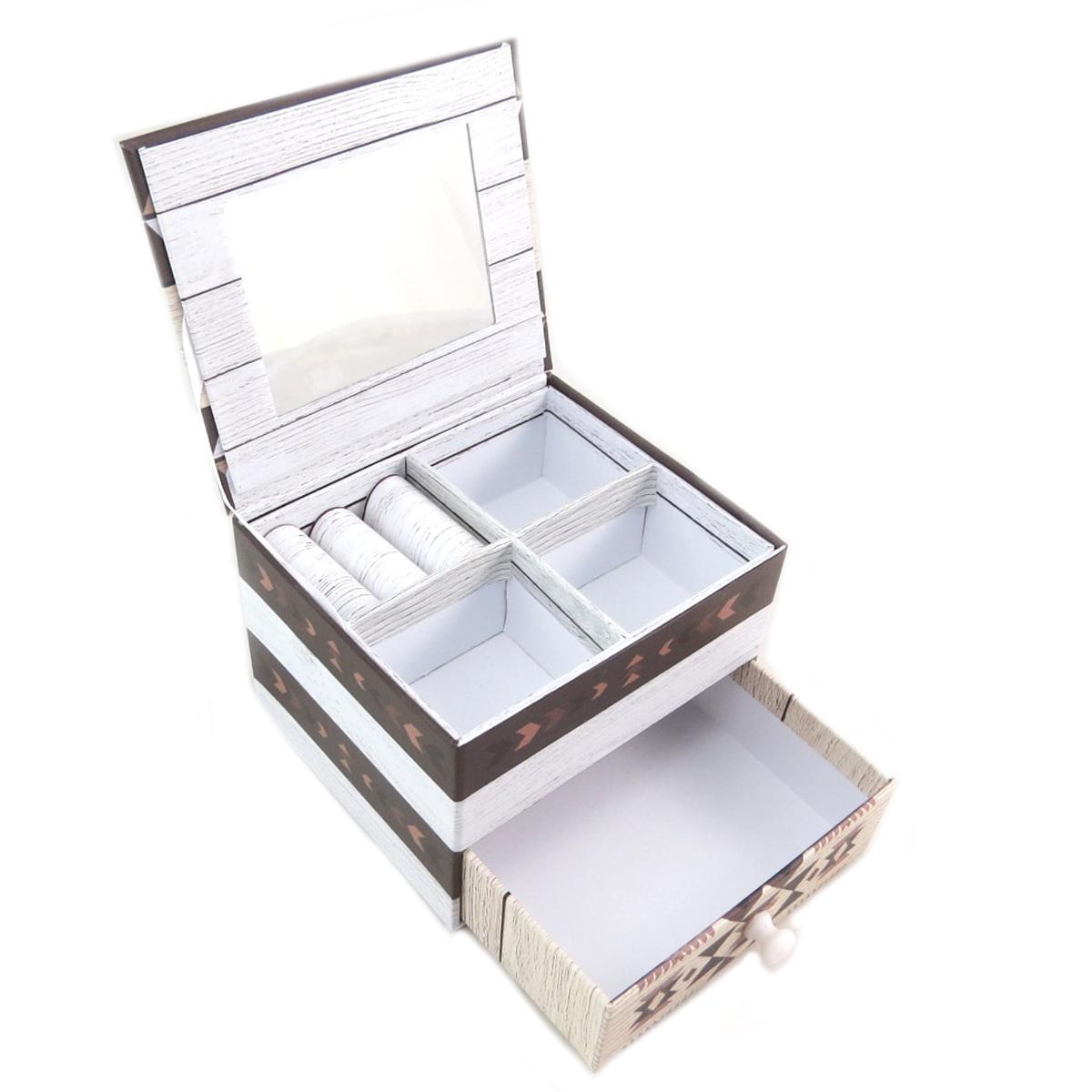 Coffret à Bijoux \'Boho\' marron beige - 11x95x8 cm - [P9416]