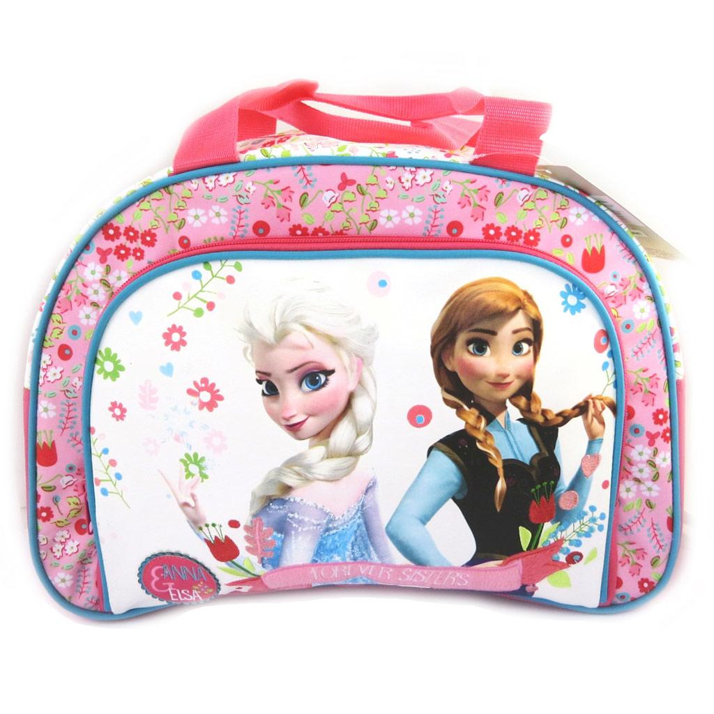 Sac de voyage enfant \'Frozen - Reine des Neiges\' blanc rose (40 cm) - [L9398]