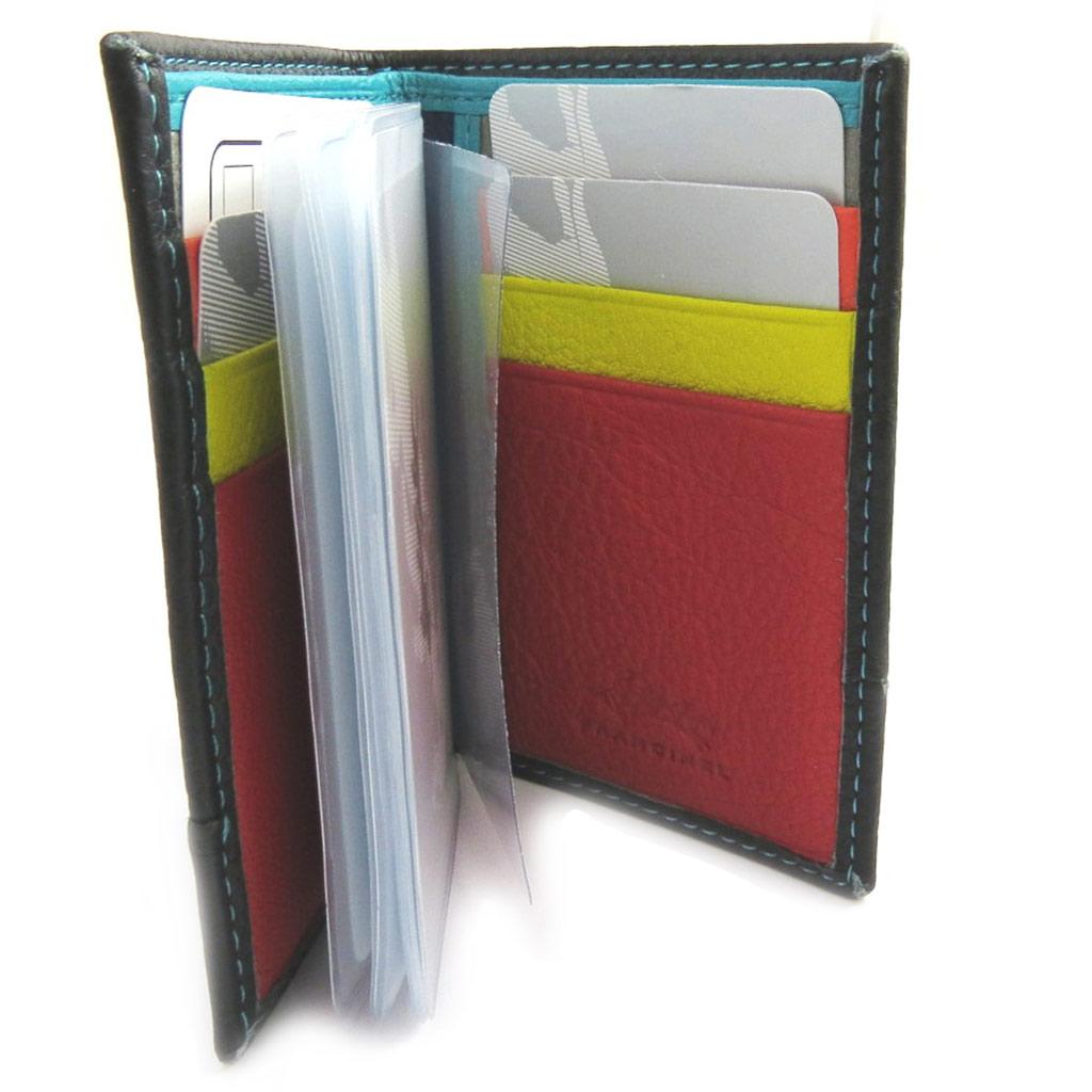 Porte-cartes \'Troubadour\' noir multicolore - [L9464]