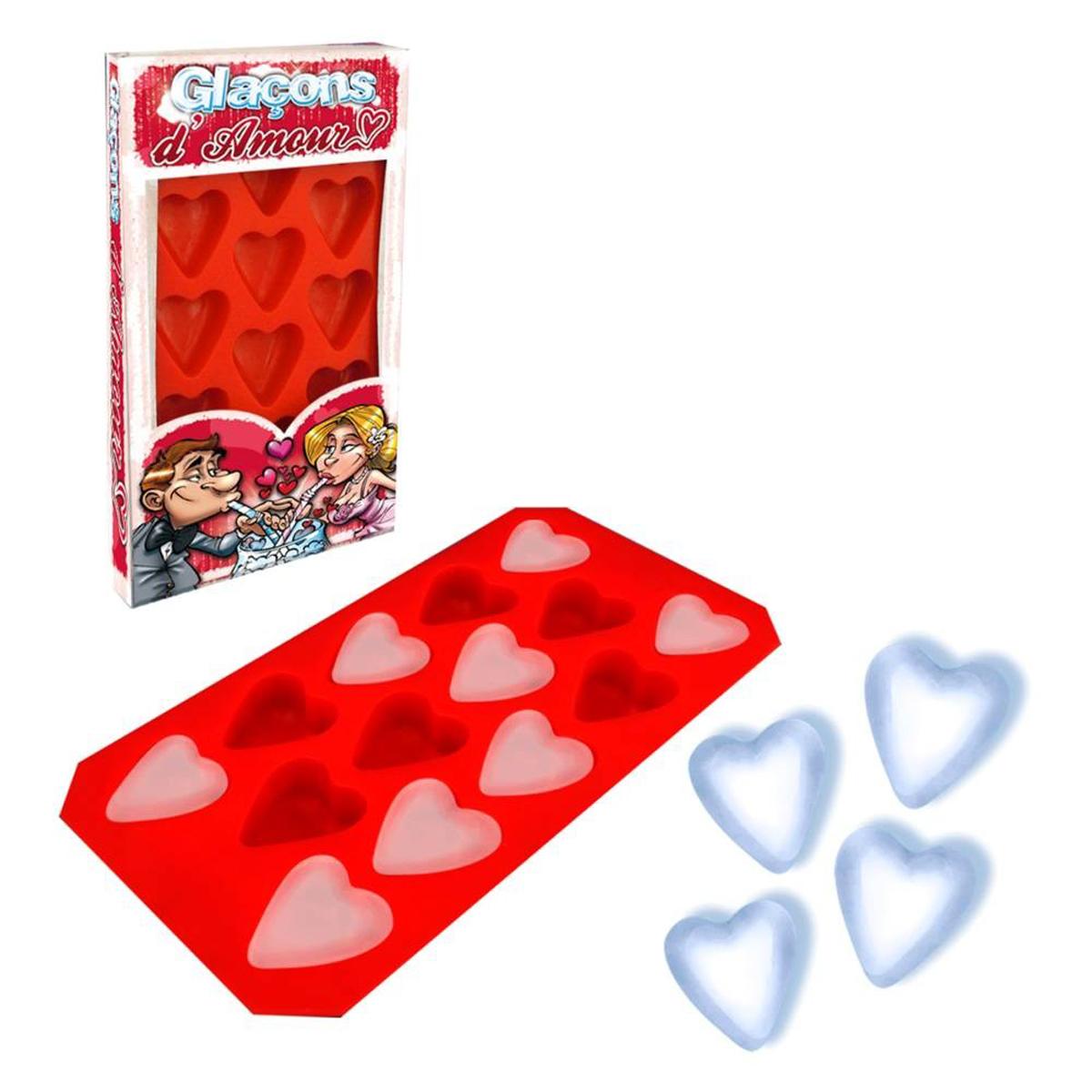 Moule à glaçons silicone \'Love\' rouge (14 glaçons) - 215x115 cm - [Q5870]