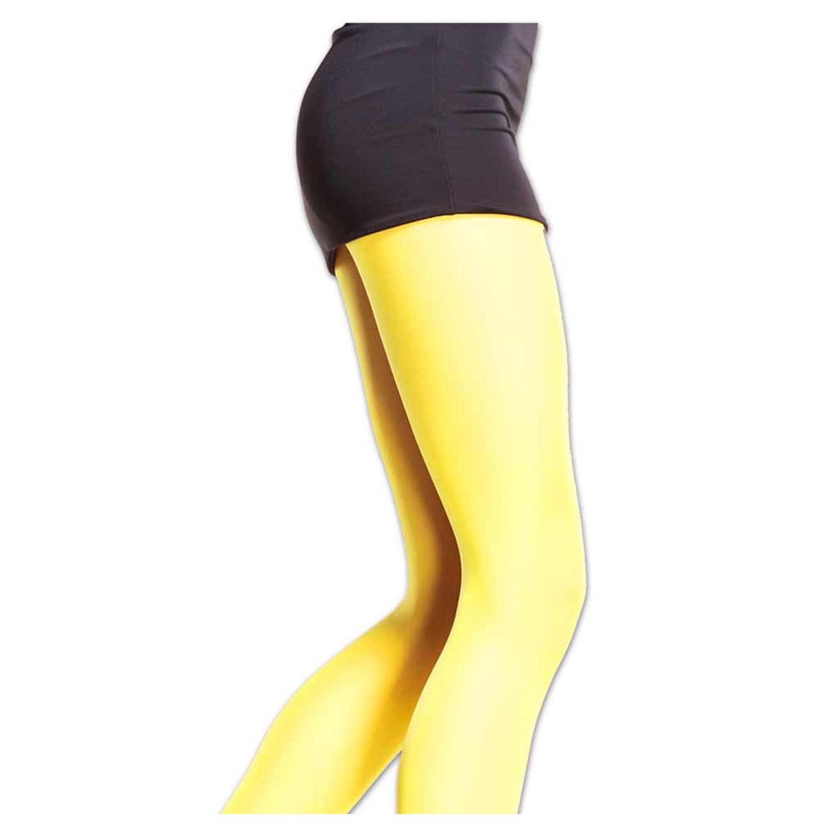 Collant \'Coloriage\' jaune - [Q5897]