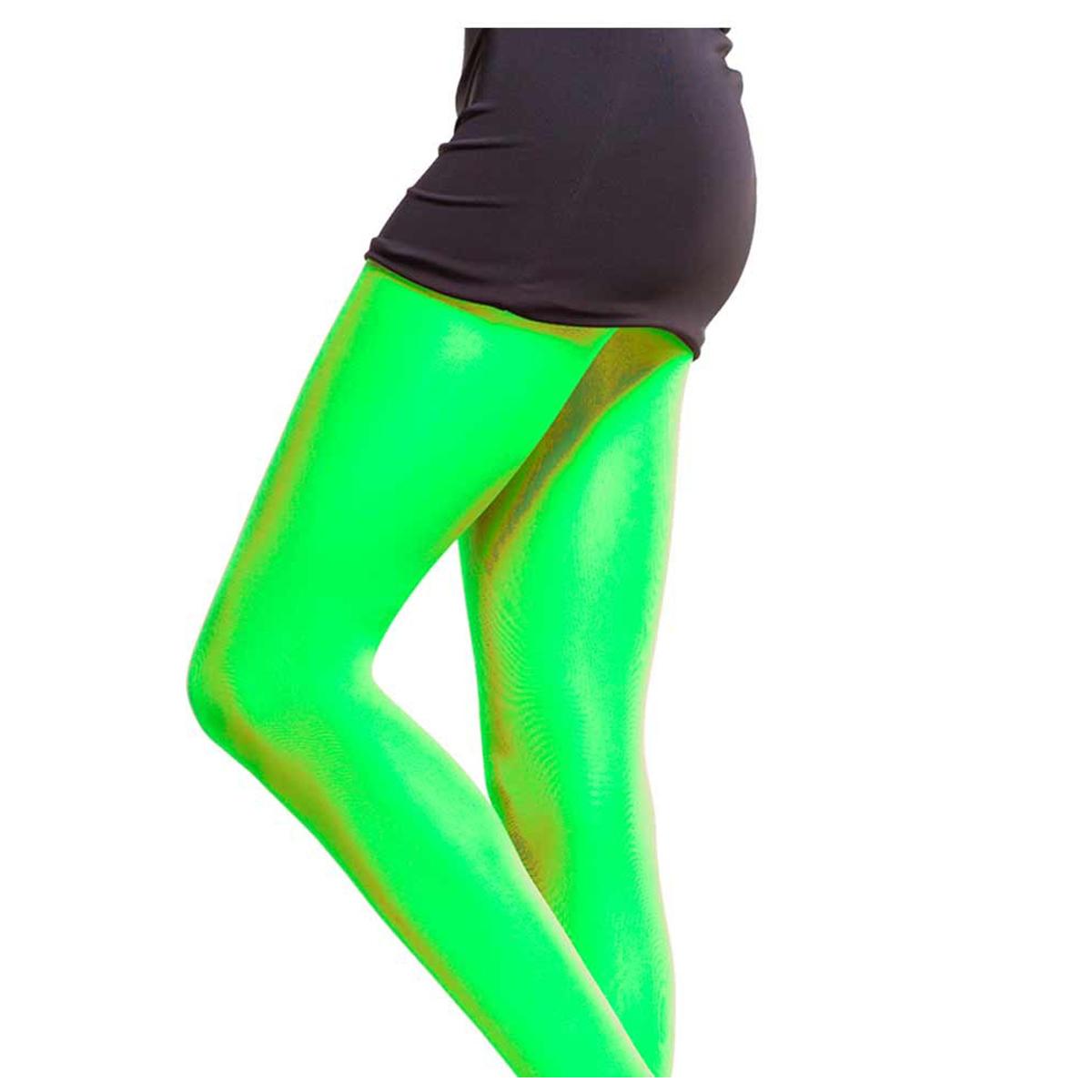 Collant \'Coloriage\' vert - [Q5898]