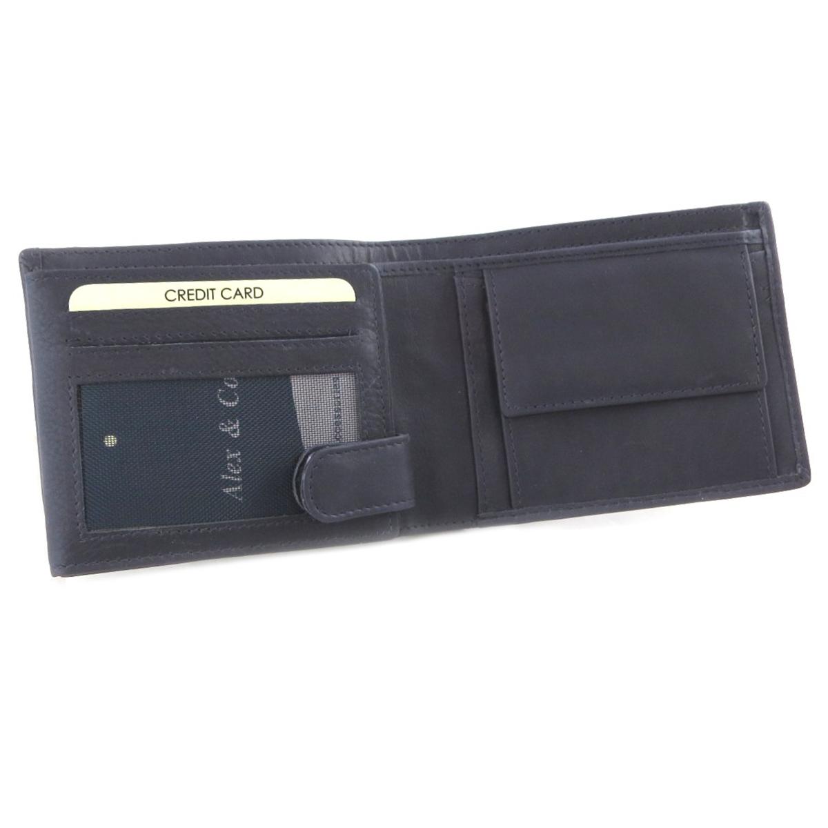 Portefeuille italien cuir \'Gianni Conti\' marine - 12x95x3 cm - [P9871]