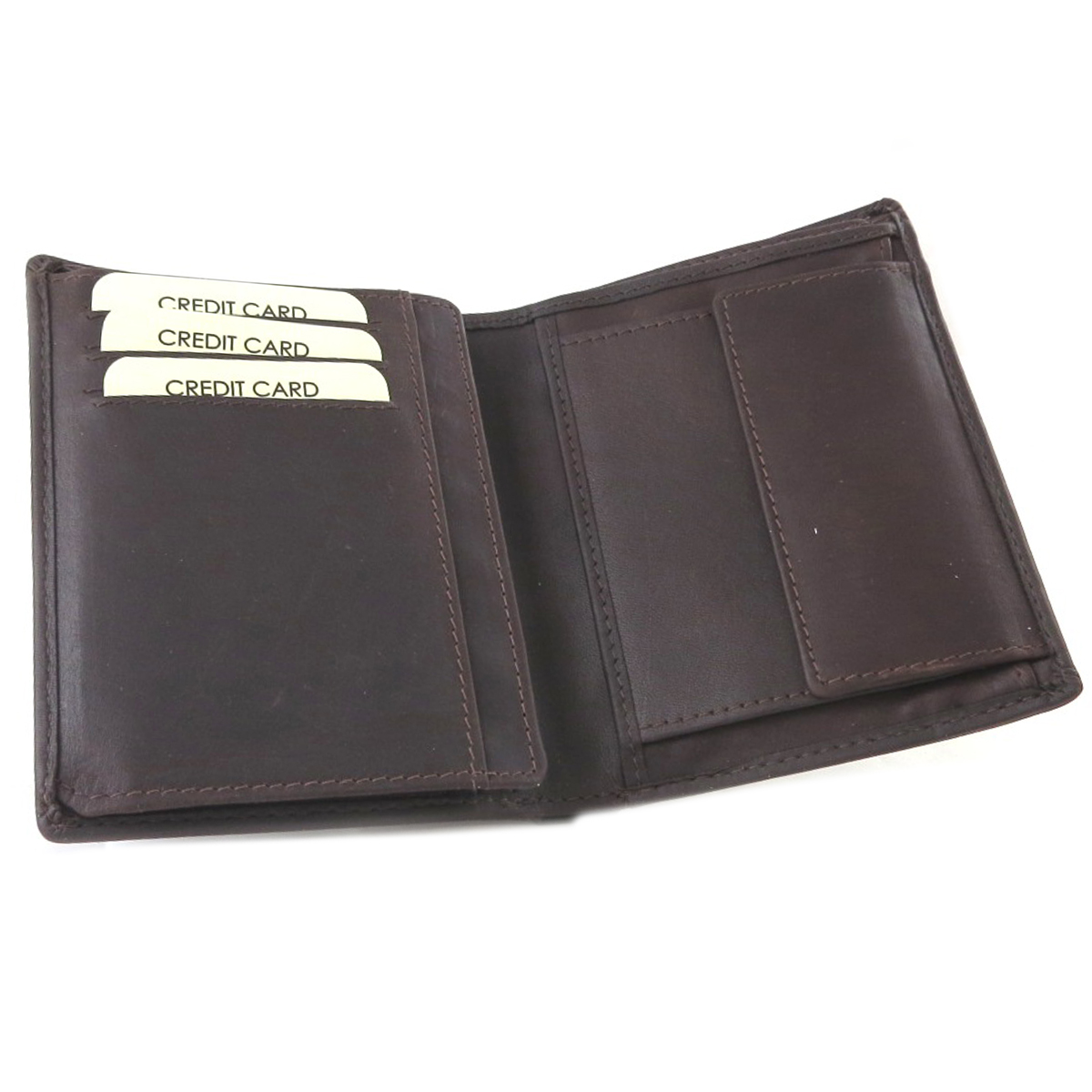 Portefeuille européen cuir \'Gianni Conti\' marron foncé - 125x10x15 cm - [P9873]