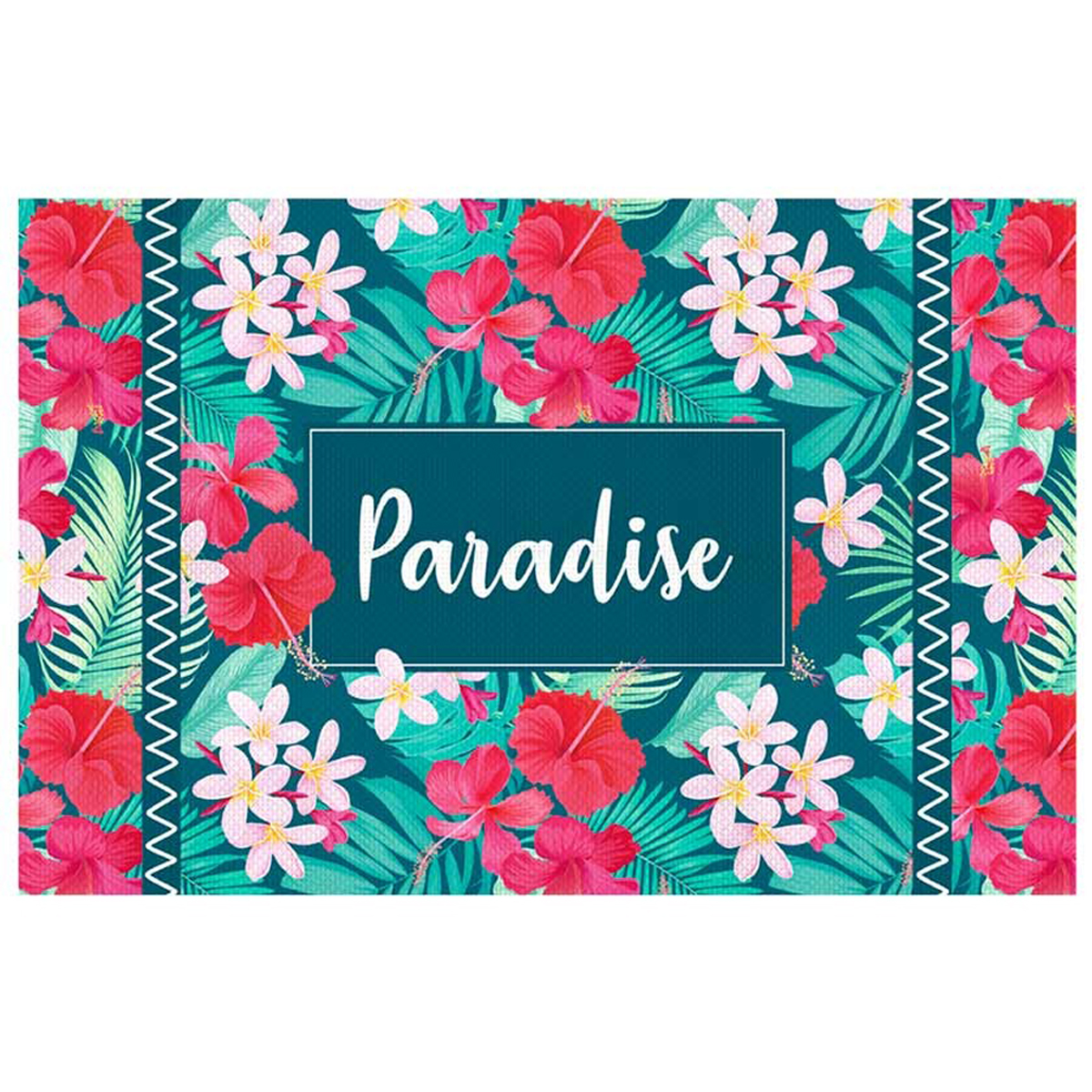 Set de table plastifié \'Tropical\' bleu rose (Paradise) - 43x28 cm - [Q5920]