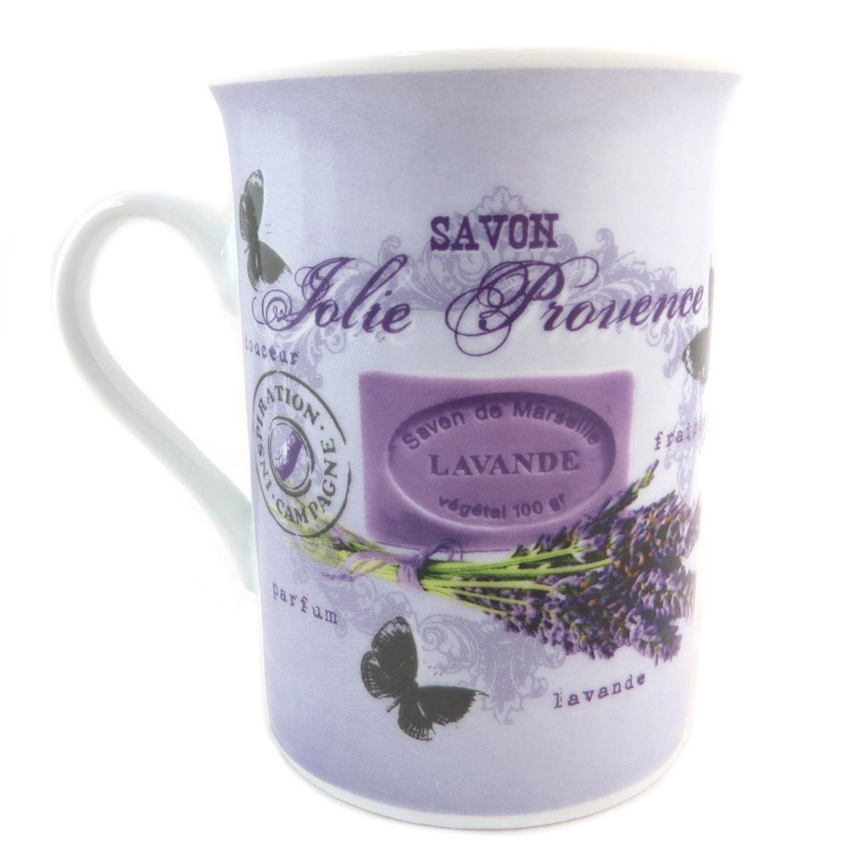 Mug porcelaine \'Lavande Jolie Provence\' violet - [P9906]