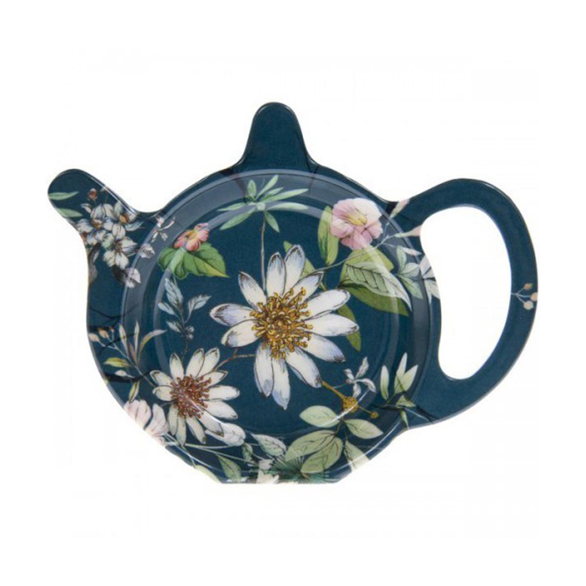 Repose sachets \'Jardin Botanique\' bleu blanc - 12x98 cm - [Q6004]