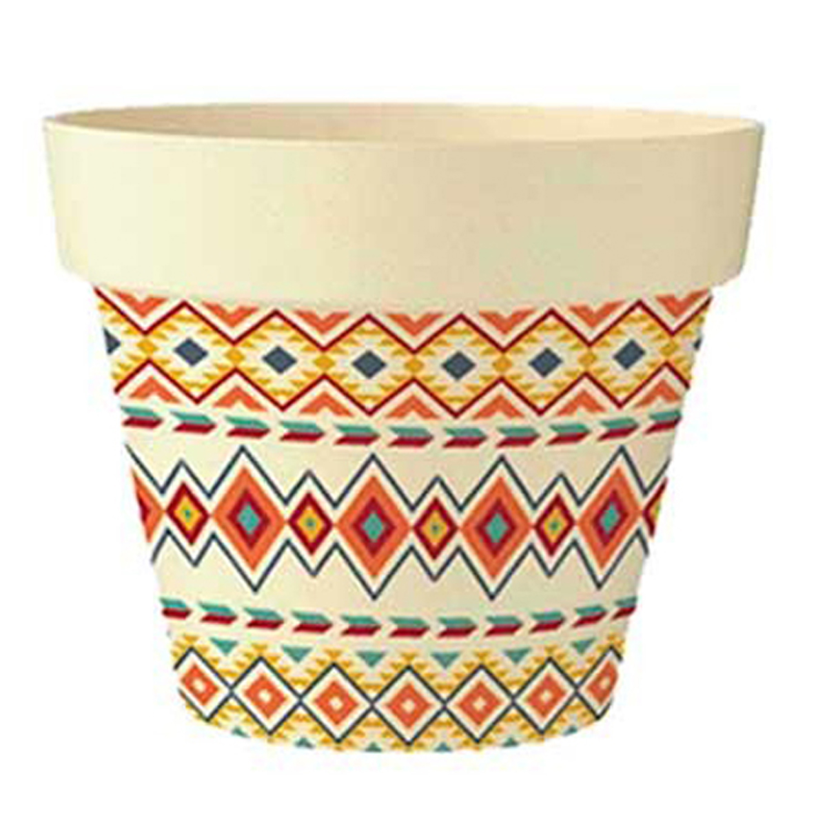 Cache-pot bambou \'Boho\' orange multicolore beige -  135x15 cm - [Q6429]