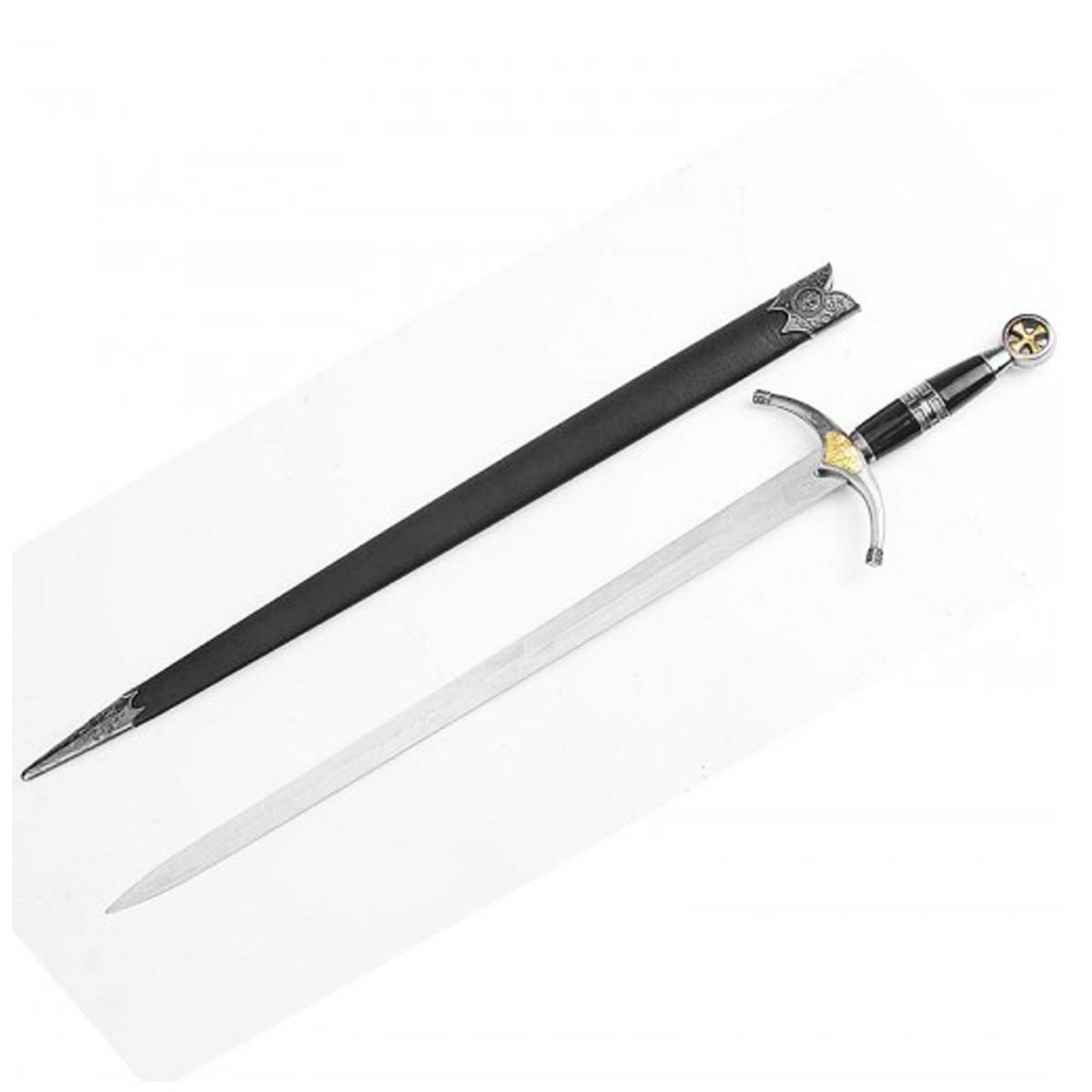 Reproduction épée \'Prince Noir\' noir argenté - 76 cm - [Q6748]