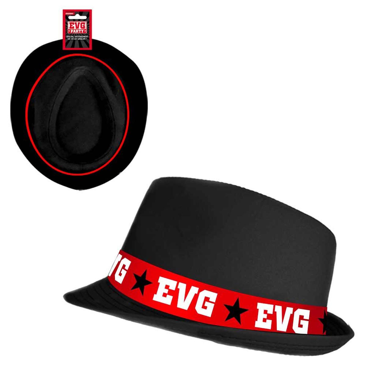 Chapeau Borsalino \'EVG\' noir - taille unique - [Q6920]