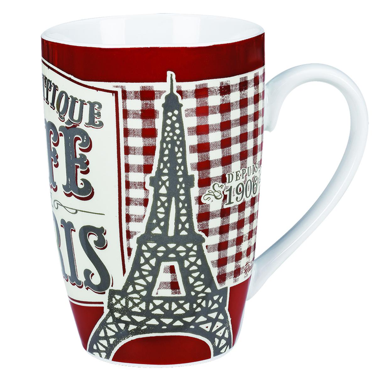 Grand mug porcelaine \'French Vintage\' (Authentique Café de Paris) - 13x85 cm (46cl) - [Q6974]