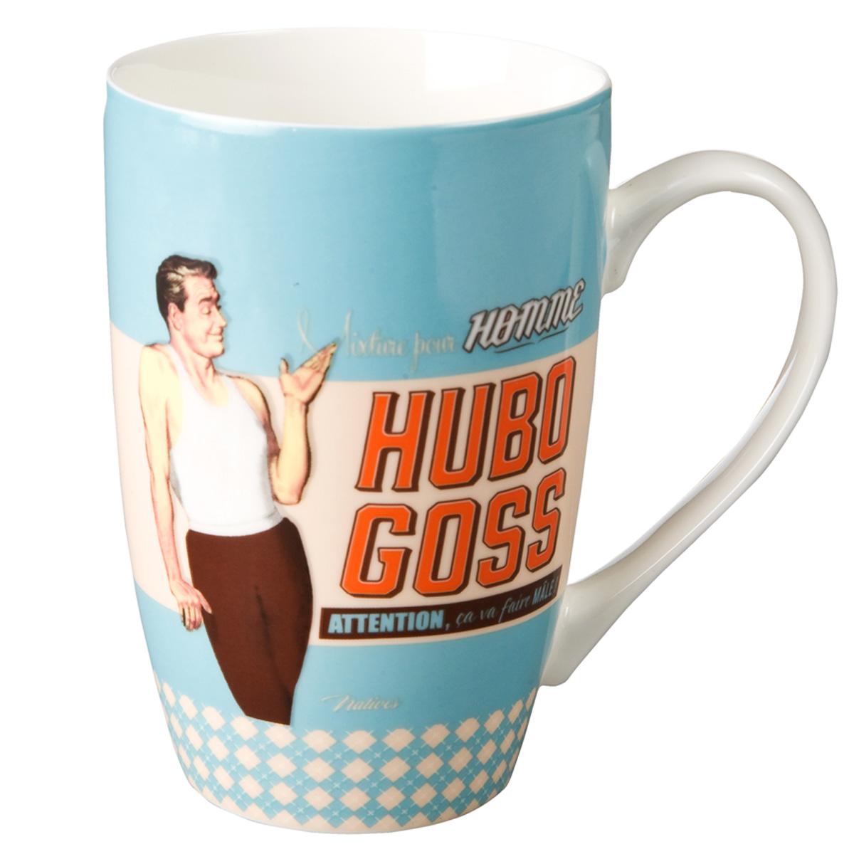 Grand mug porcelaine \'French Vintage\' (Hubo Goss ) - 13x85 cm (46cl) - [Q6976]