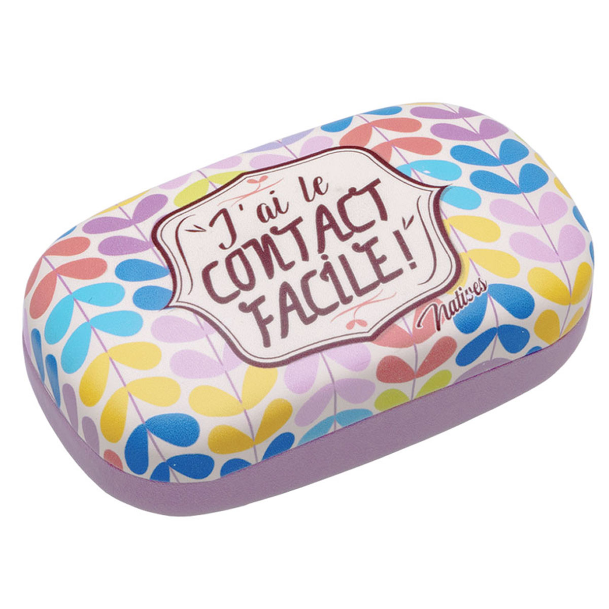 Etui à lentilles de contact \'French Vintage\' (J\'ai le Contact Facile !) - 85x48x3 cm - [Q6991]