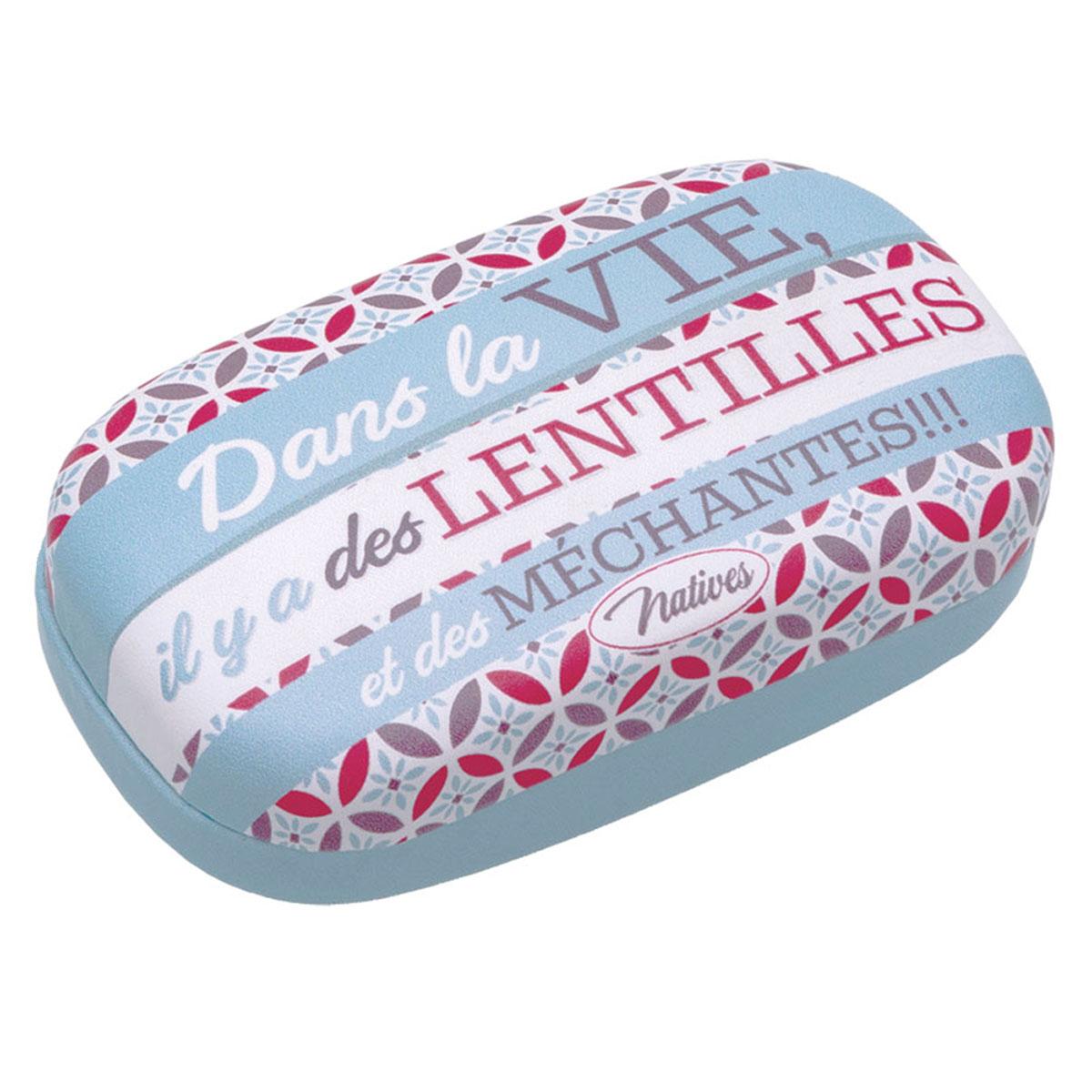 Etui à lentilles de contact \'French Vintage\' (Dans la vie il y a des Lentilles et des Méchantes) - 85x48x3 cm - [Q6992]