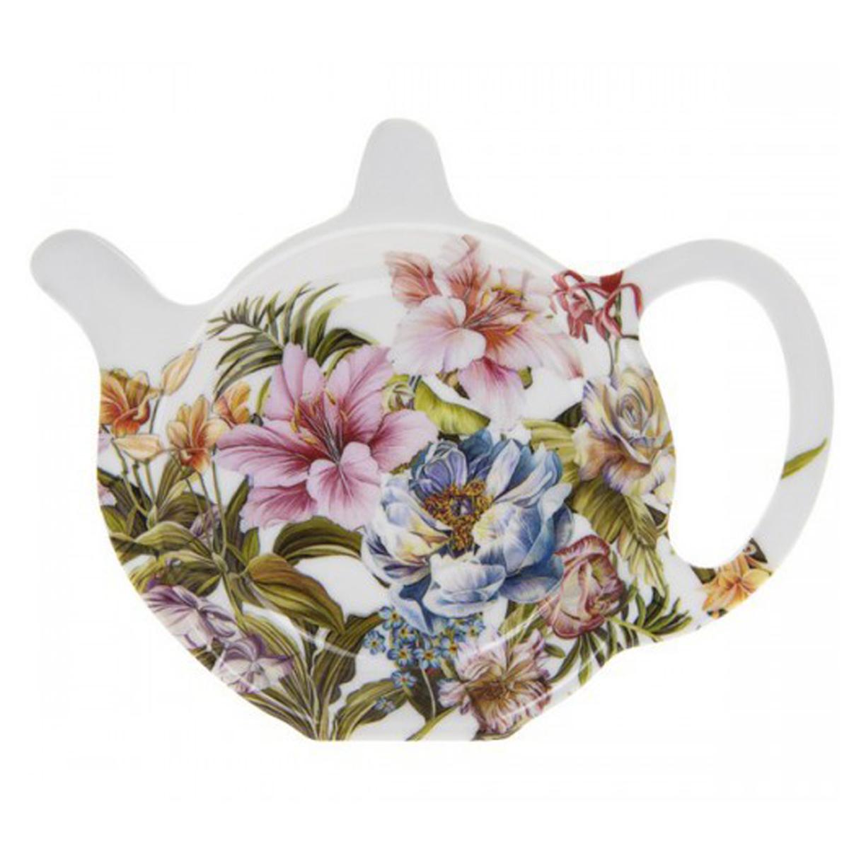 Repose sachets \'Jardin Botanique\' blanc multicolore (Lily rose) - 12x98 cm - [Q7117]