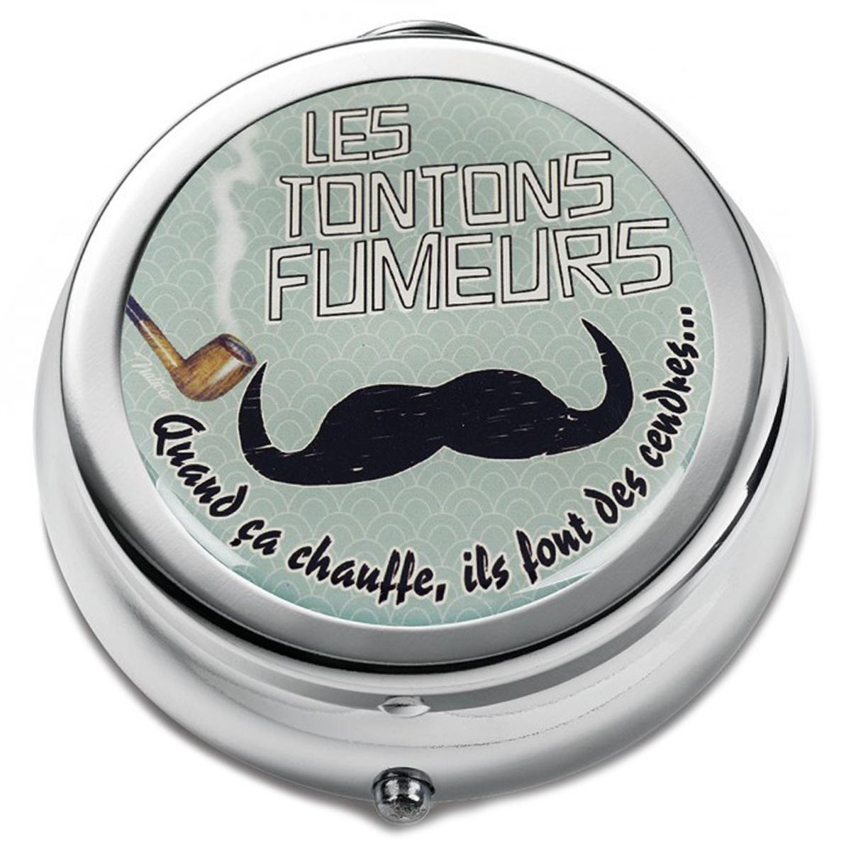 Cendrier de poche \'French Vintage\' (Les Tontons Fumeurs : quand ça chauffe, ils font des cendres ) - 68x30 mm - [Q7156]