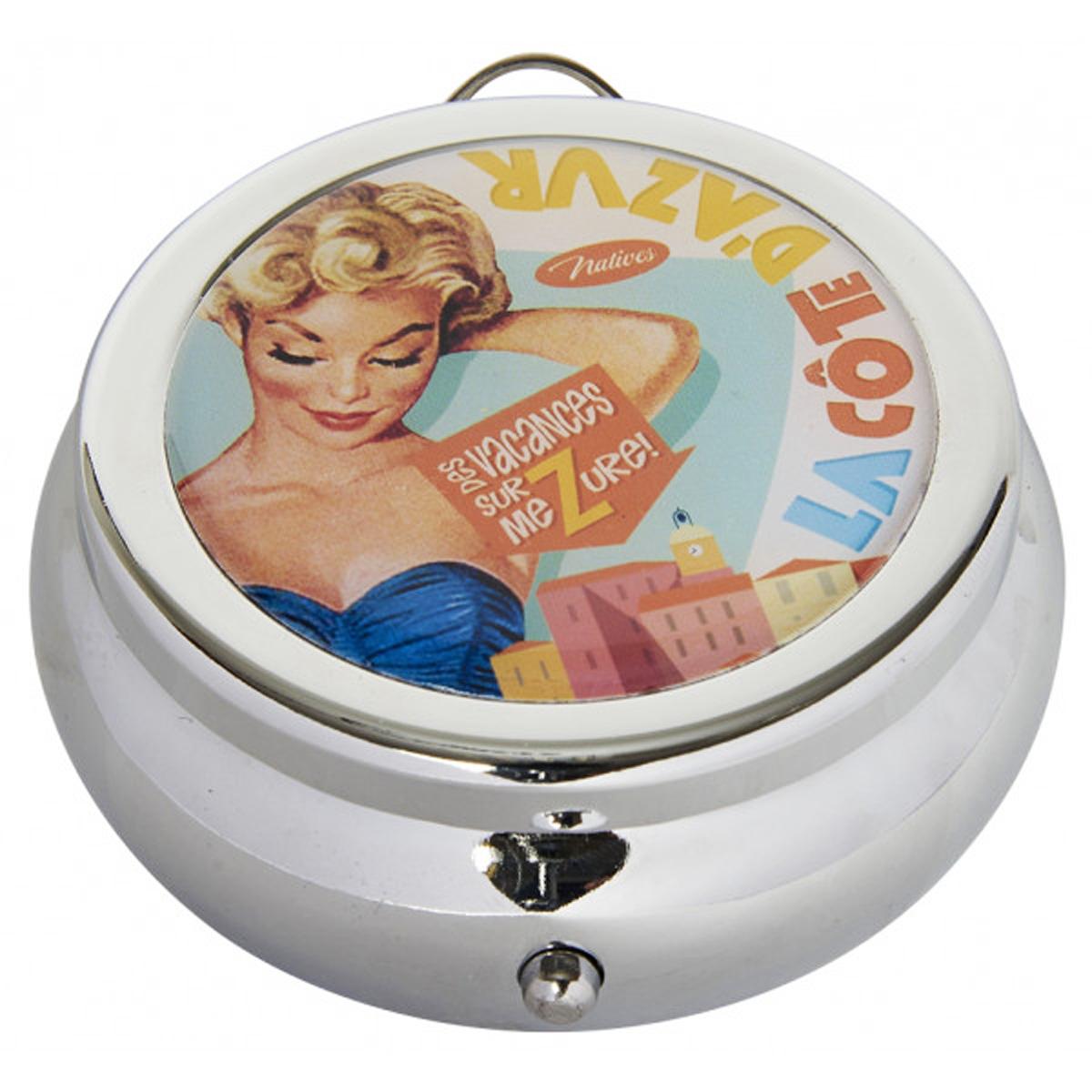 Cendrier de poche \'French Vintage\' (Côte d\'Azur) - 68x30 mm - [Q7157]