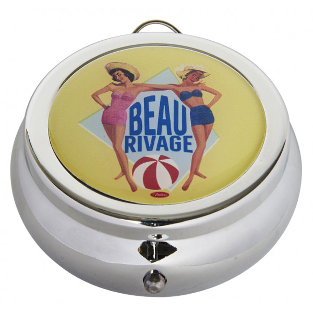 Cendrier de poche \'French Vintage\' (Beau Rivage) - 68x30 mm - [Q7158]