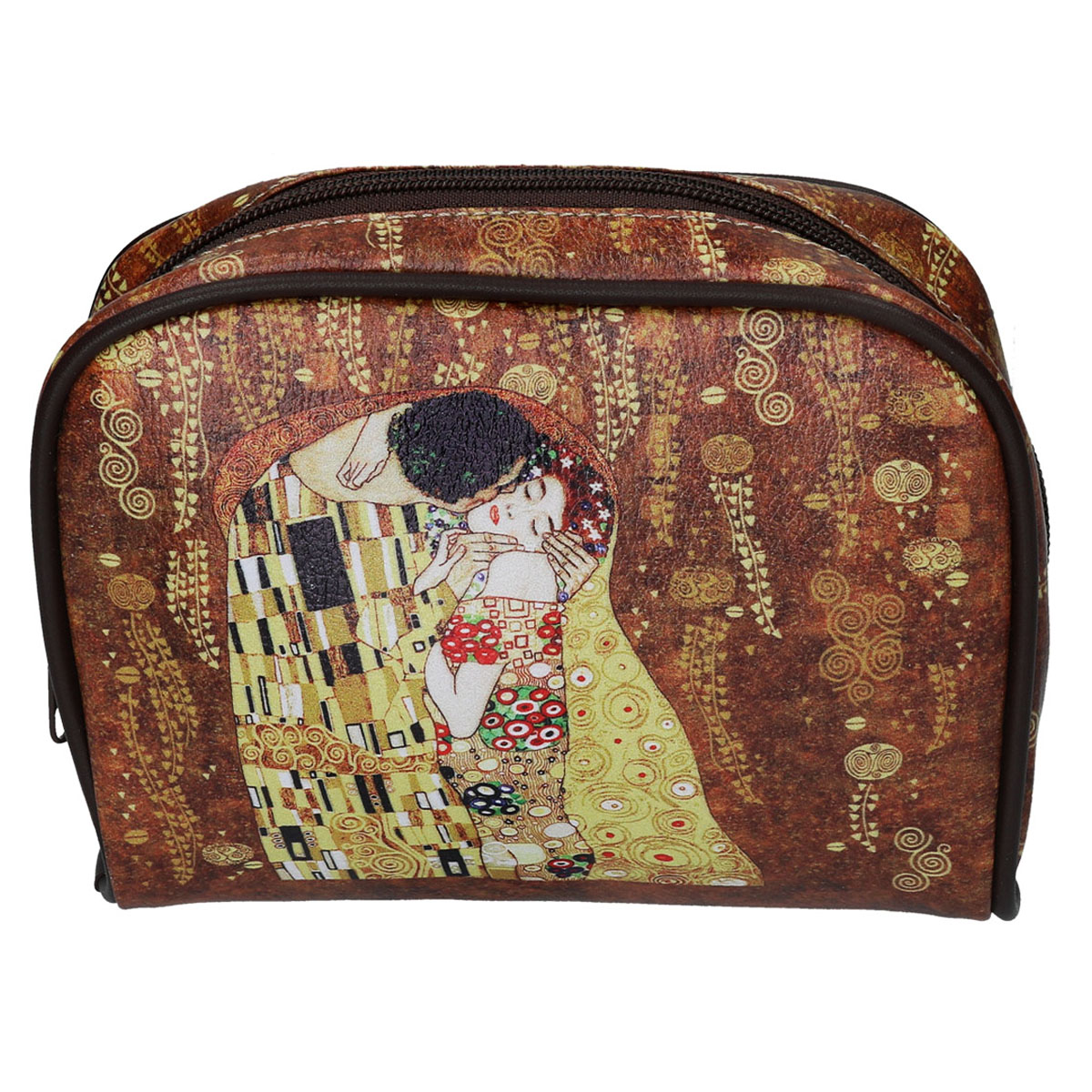 Trousse de toilette \'Gustav Klimt\' (Le Baiser) - 26x22x55 cm - [Q7218]