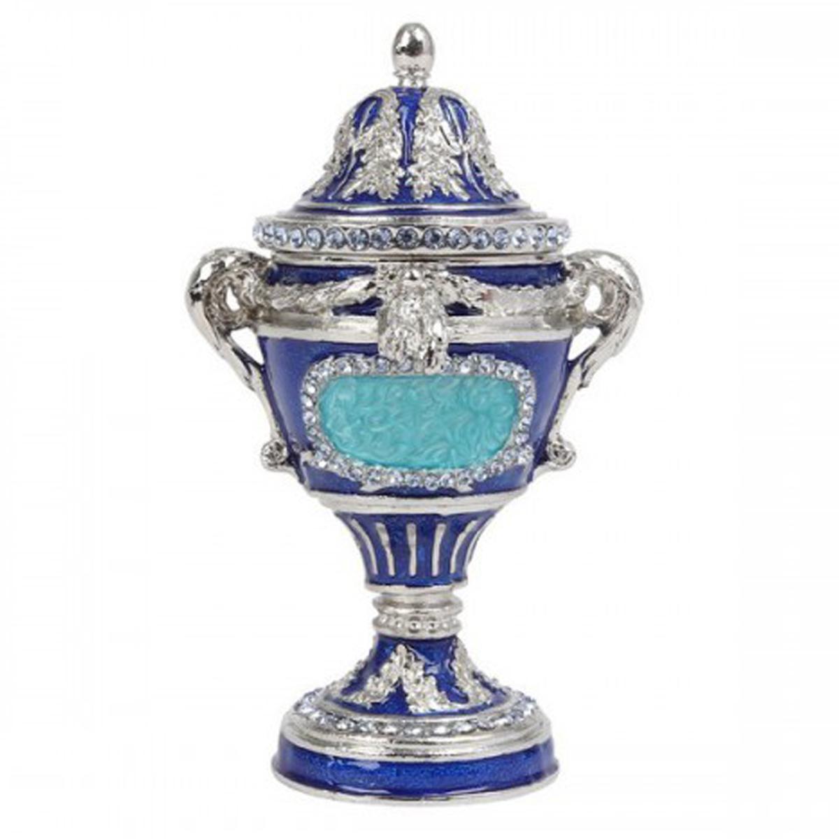 Coffret à Bijoux \'Oeuf Trophée\' bleu - 105x65 cm - [Q7294]