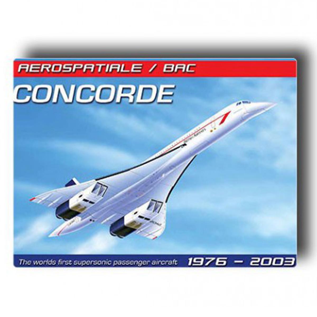 Magnet métal rétro \'Concorde\' (1976-2003) - 9x65 cm - [Q7382]