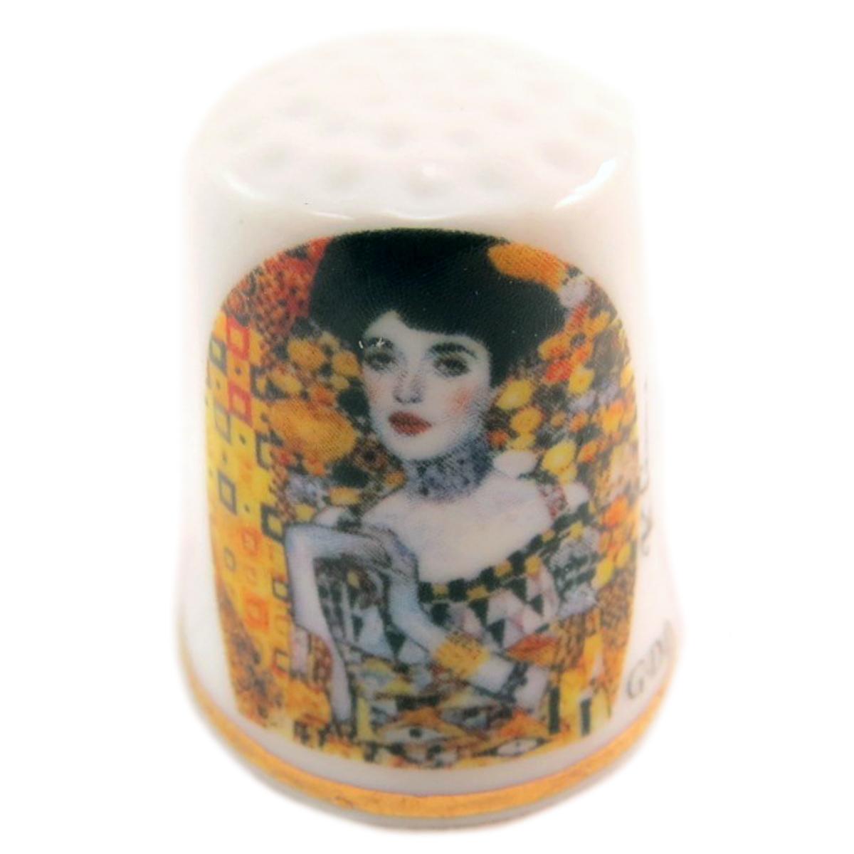 Dé à coudre \'Gustav Klimt\' multicolore (Adèle) - 27x23 mm - [Q7465]