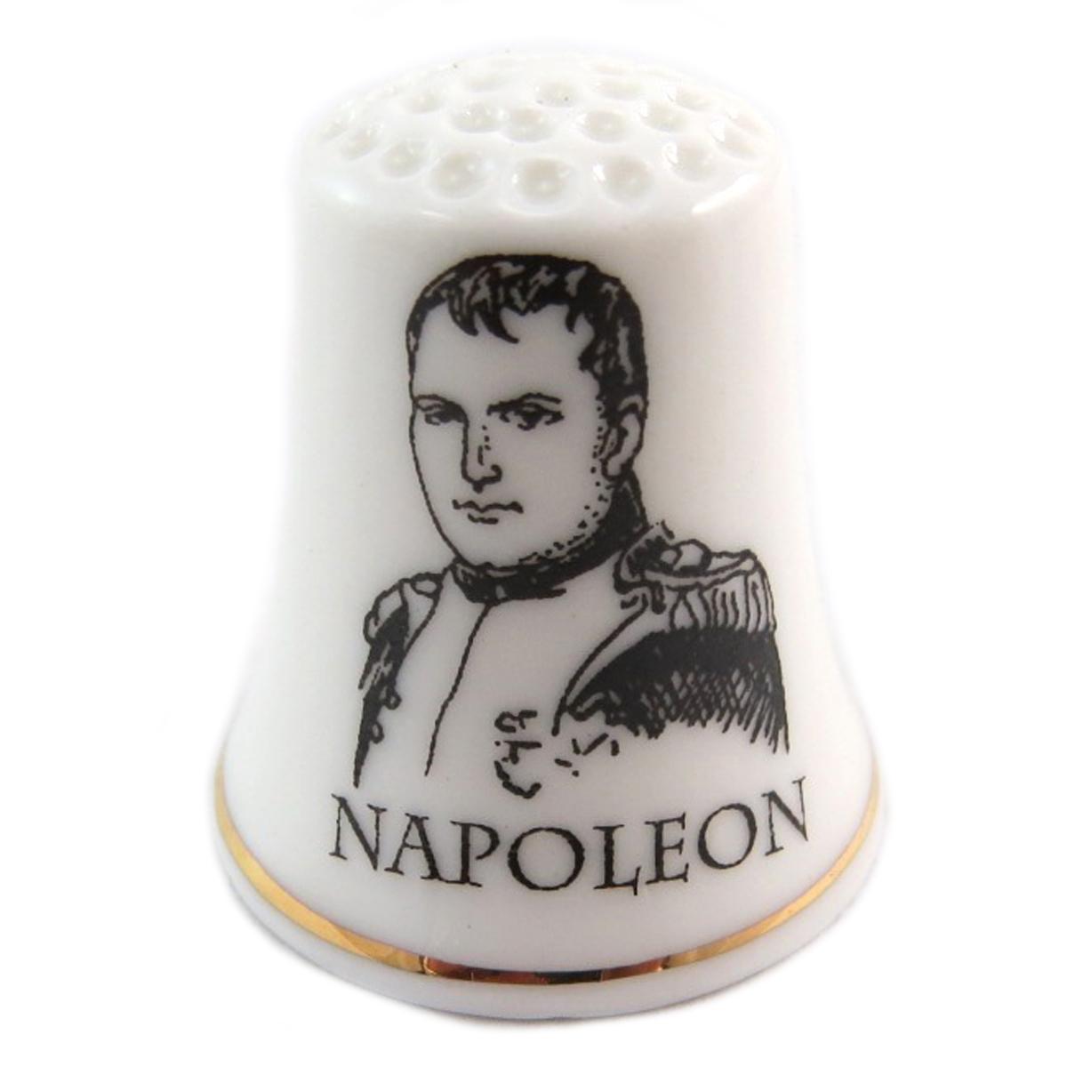 Dé à coudre \'Napoléon\' noir blanc (Napoléon) - 27x23 mm - [Q7471]