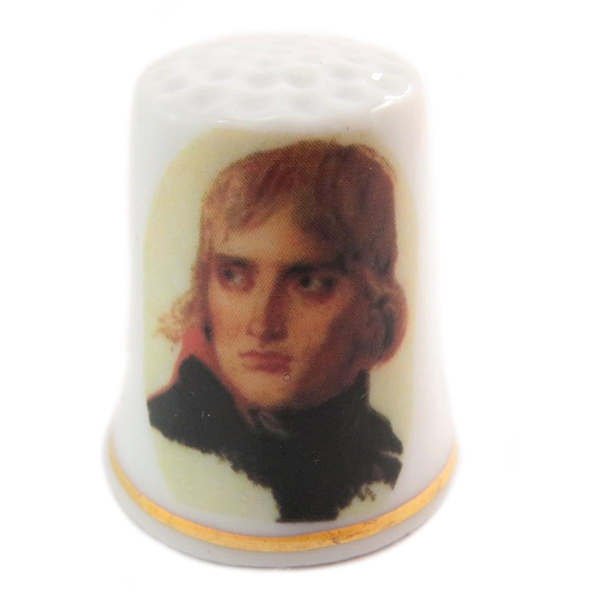 Dé à coudre \'Napoléon\' multicolore blanc - 27x23 mm - [Q7481]