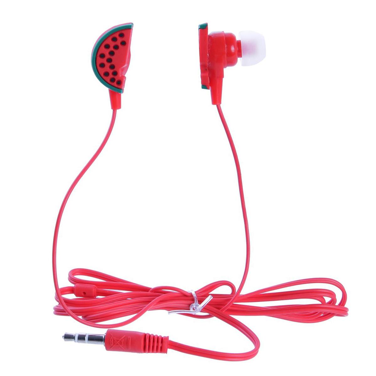Ecouteurs \'Tropical\' rouge (pastèque) - [Q8117]
