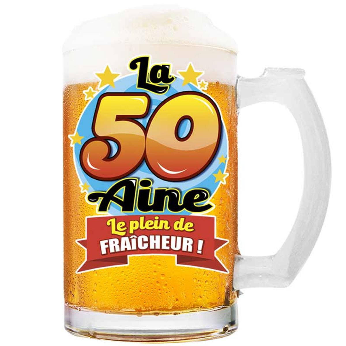 Chope à bière \'50 aine\' (Le plein de fraicheur !)  - 145x75 cm - [Q8386]