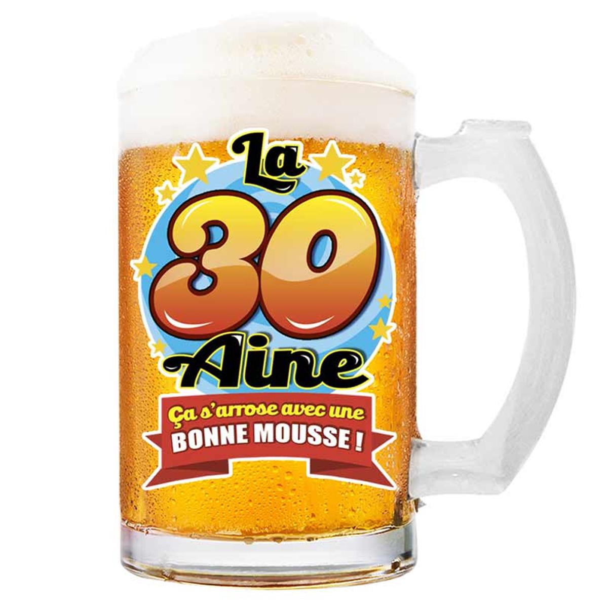 Chope à bière \'30 aine\' (ça s\'arrose avec une bonne mousse !)  - 145x75 cm - [Q8387]