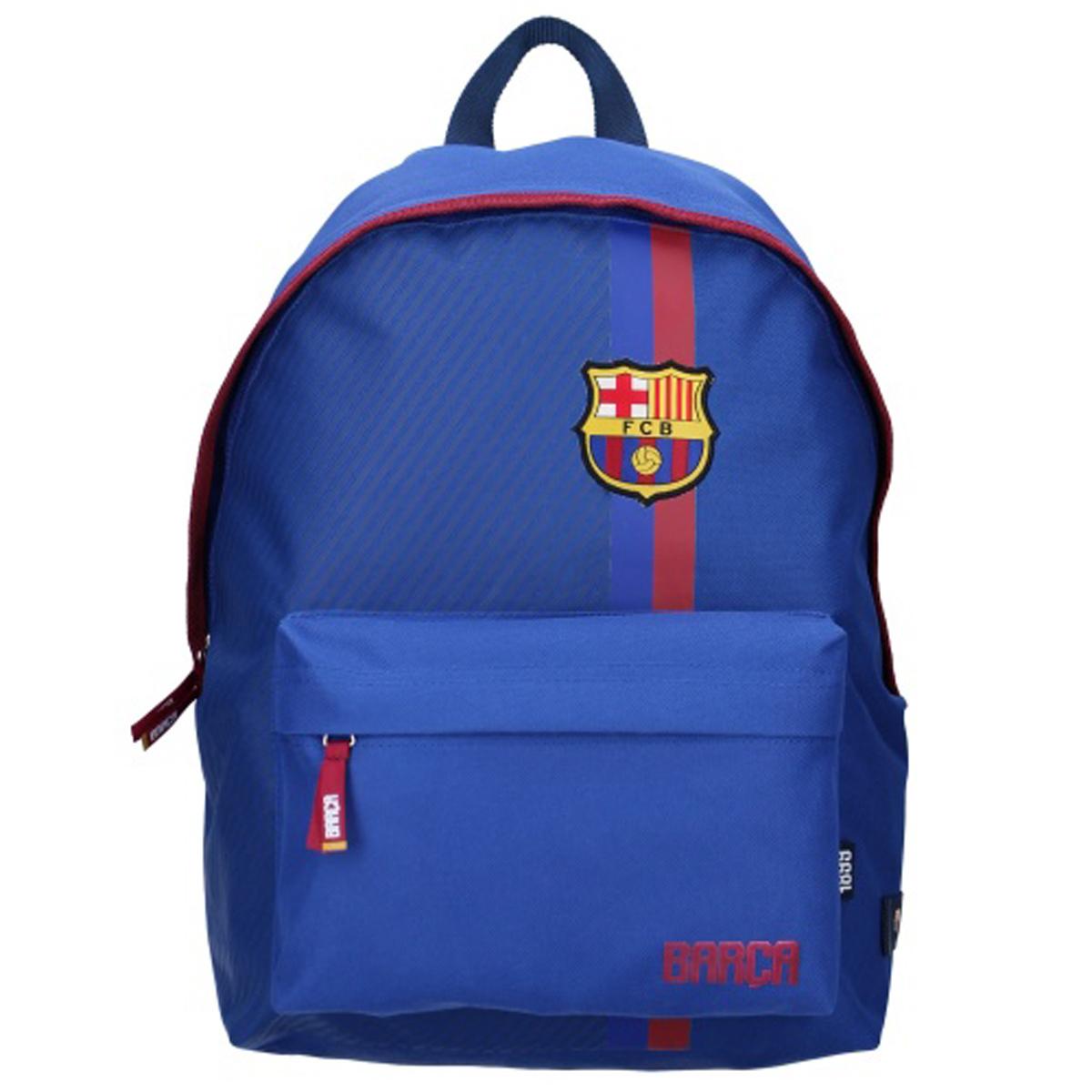 Sac à dos \'FC Barcelona\' bleu rouge - 40x30x14 cm - [Q8695]
