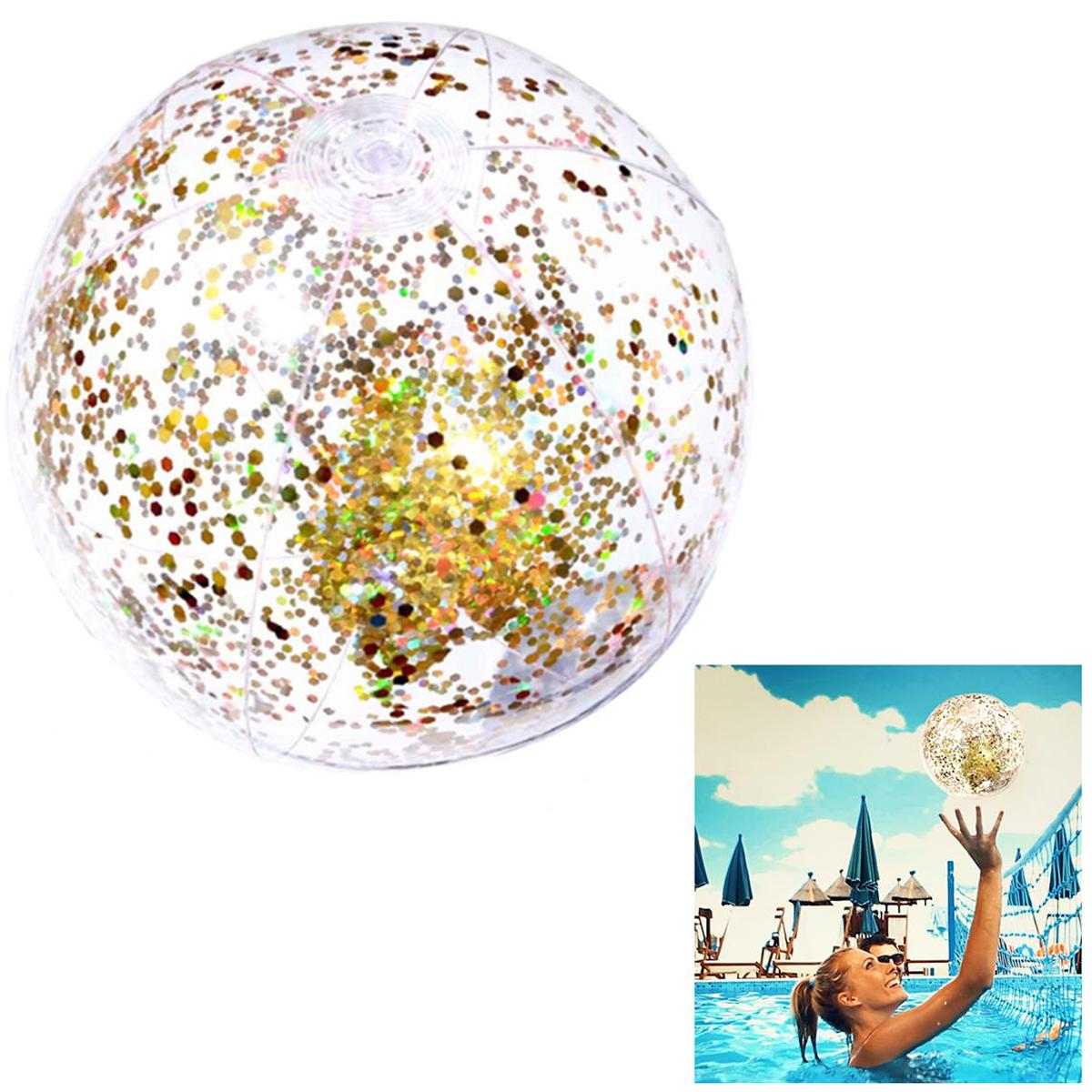 Ballon gonflable \'Paillettes\' doré - 35 cm - [Q8968]
