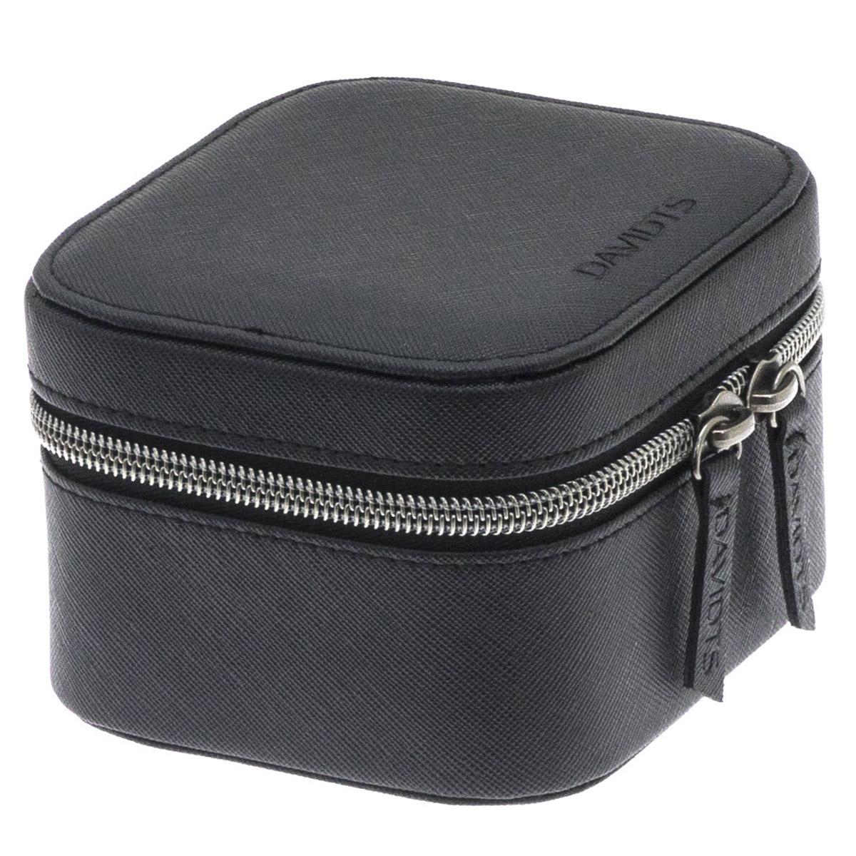 Coffret à montres zippé \'Zip\'n go\' noir (2 montres) - 115x105x75 cm - [Q9137]