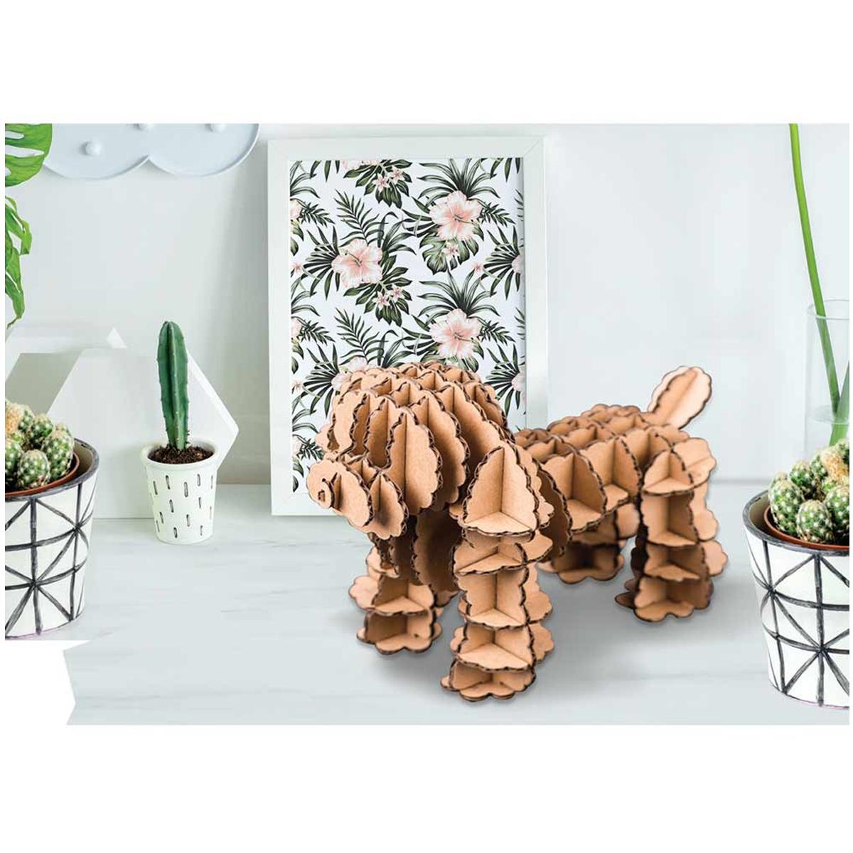 Figurine carton 3D \'Chien\' - planches 30x305 cm - [Q9215]