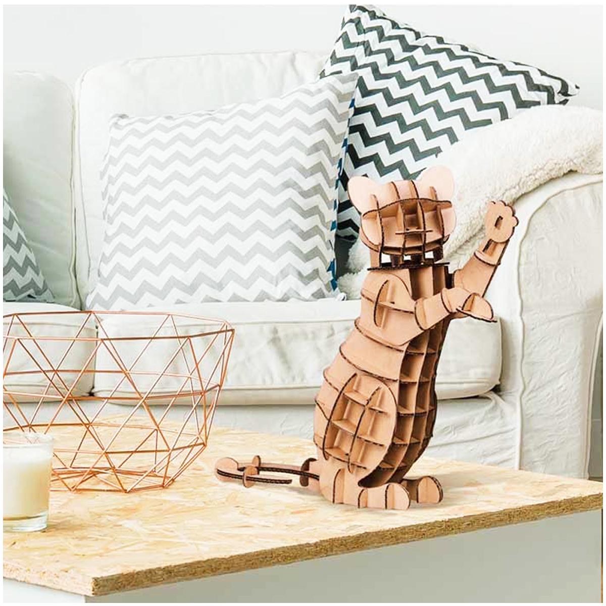 Figurine carton 3D \'Chat\' - planches 30x305 cm - [Q9218]