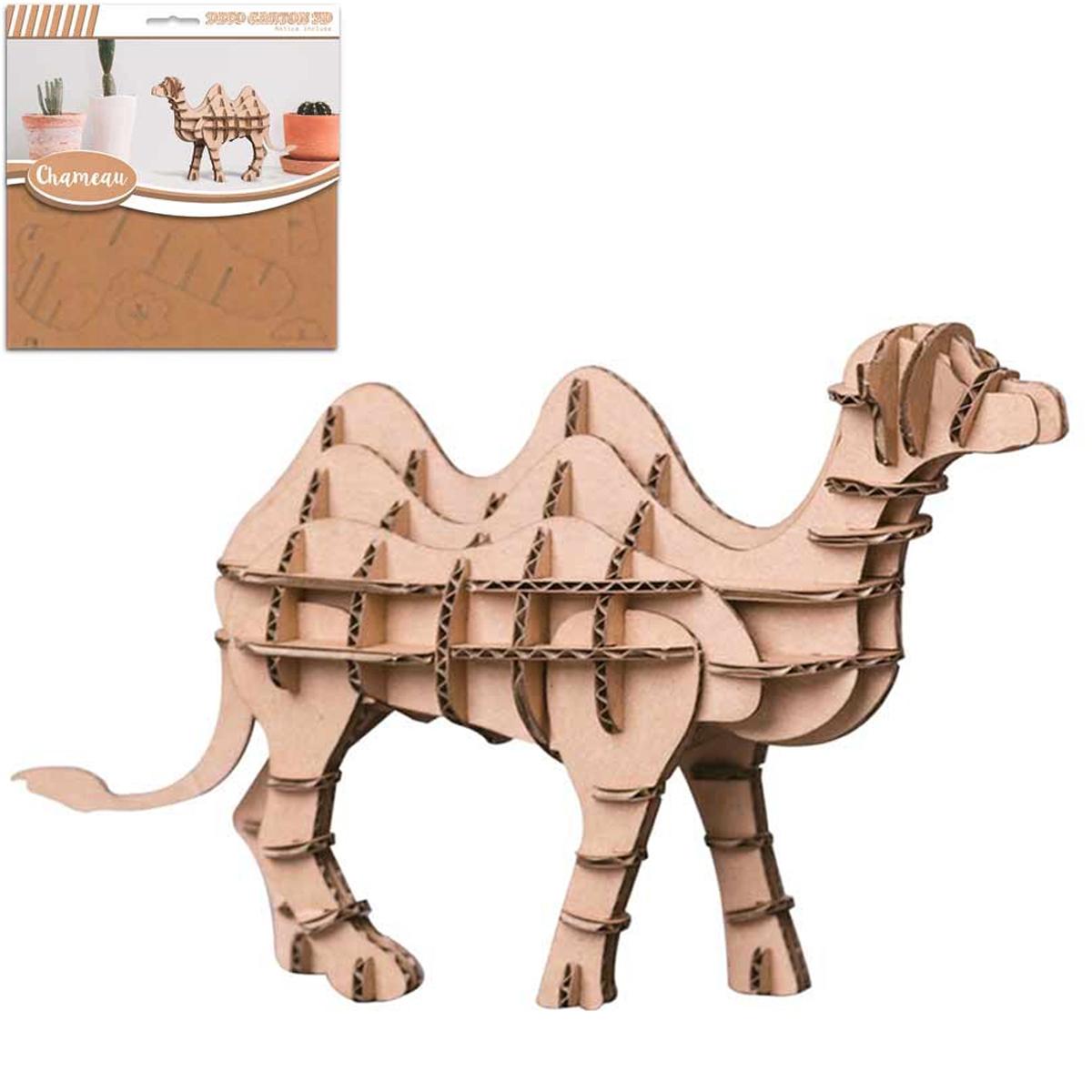 Figurine carton 3D \'Chameau\' - planches 165x175 cm - [Q9223]