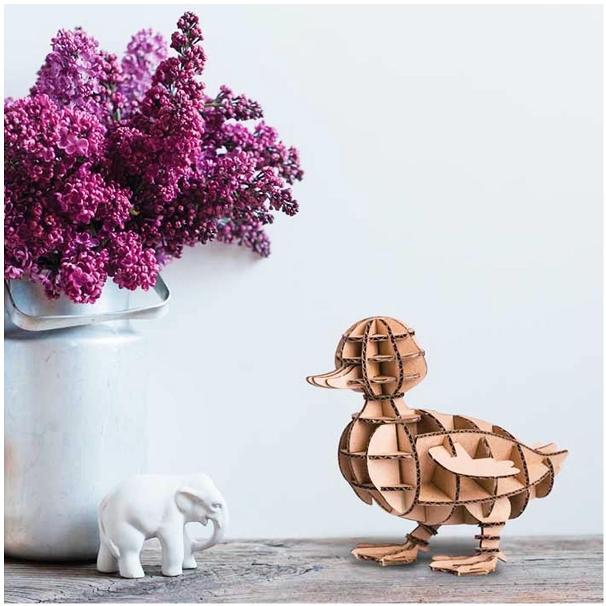 Figurine carton 3D \'Canard\' - planches 165x175 cm - [Q9227]