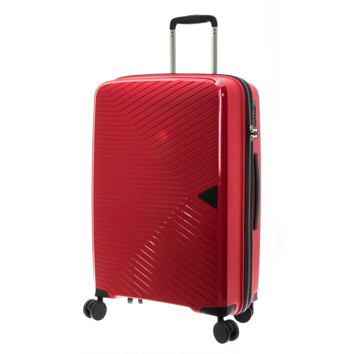 Valise trolley coque polypropylène \'Davidt\'s\' rouge - 67x45x25 cm - [Q9475]