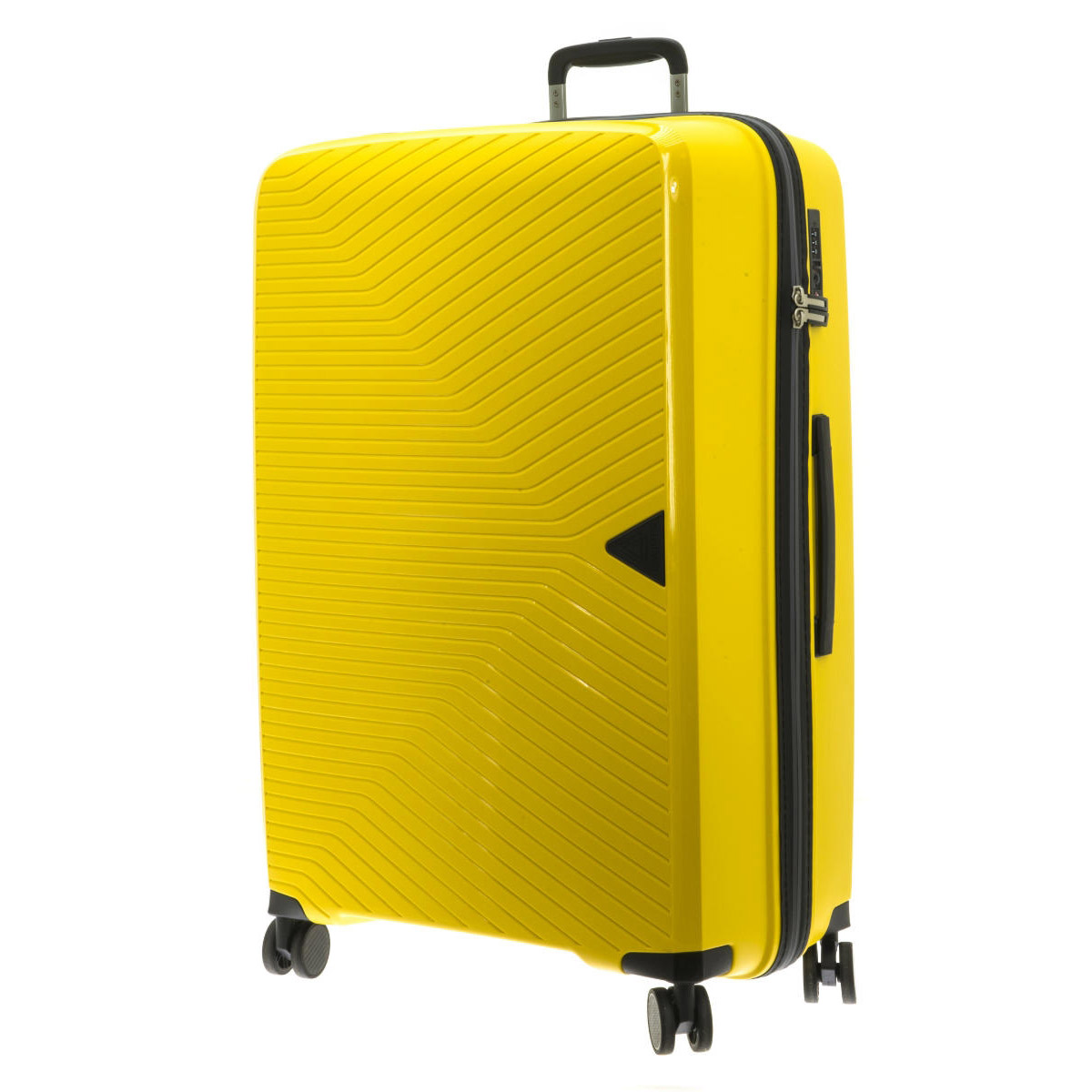 Valise trolley coque polypropylène \'Davidt\'s\' jaune - 77x53x32 cm - [Q9479]