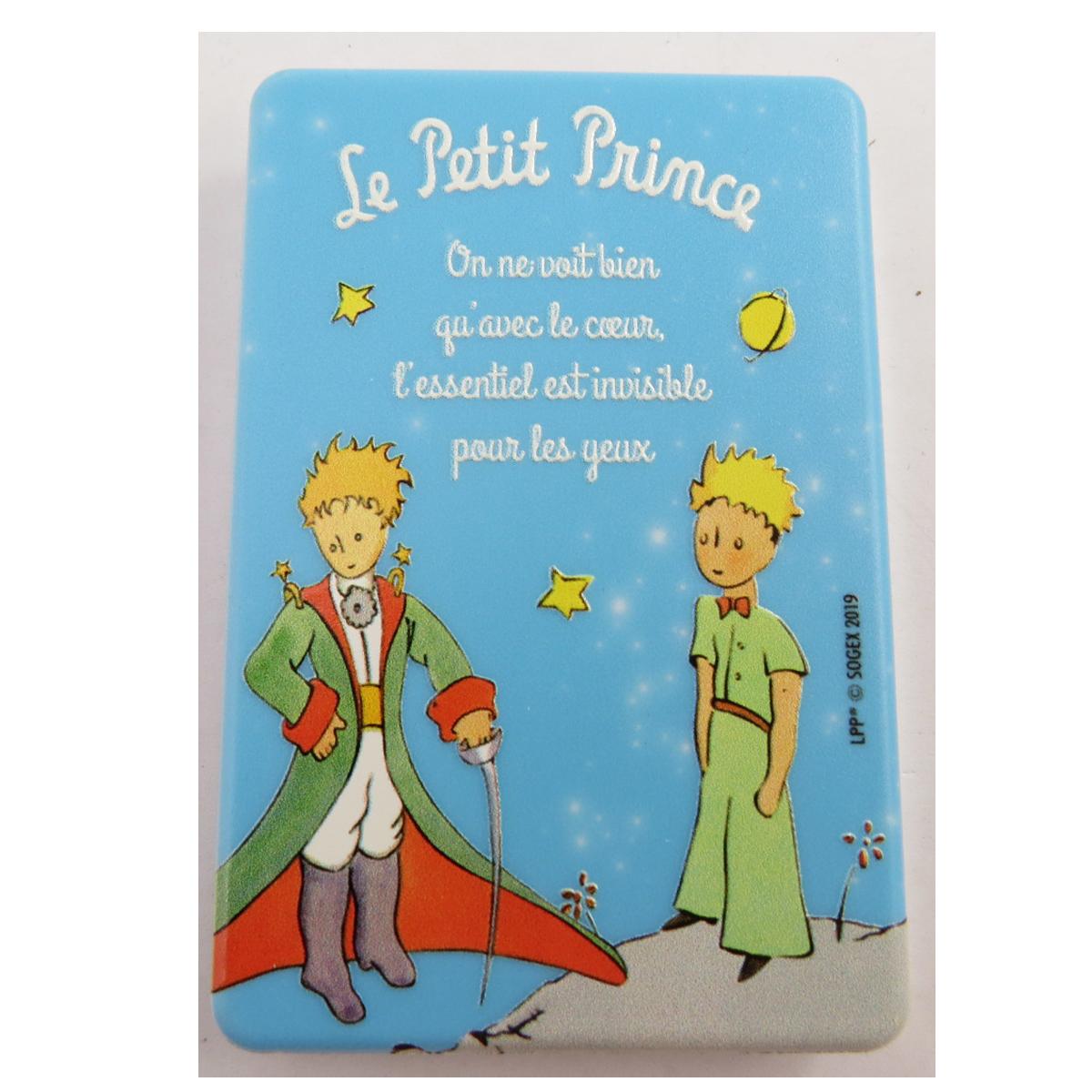 Miroir de poche \'Le Petit Prince\' turquoise (cape, épée) - 85x55 cm - [Q9495]