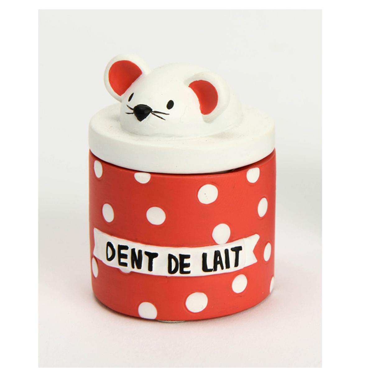 Boite à dents de lait \'La Petite Souris\' rouge blanc - 55x5 cm - [Q9564]