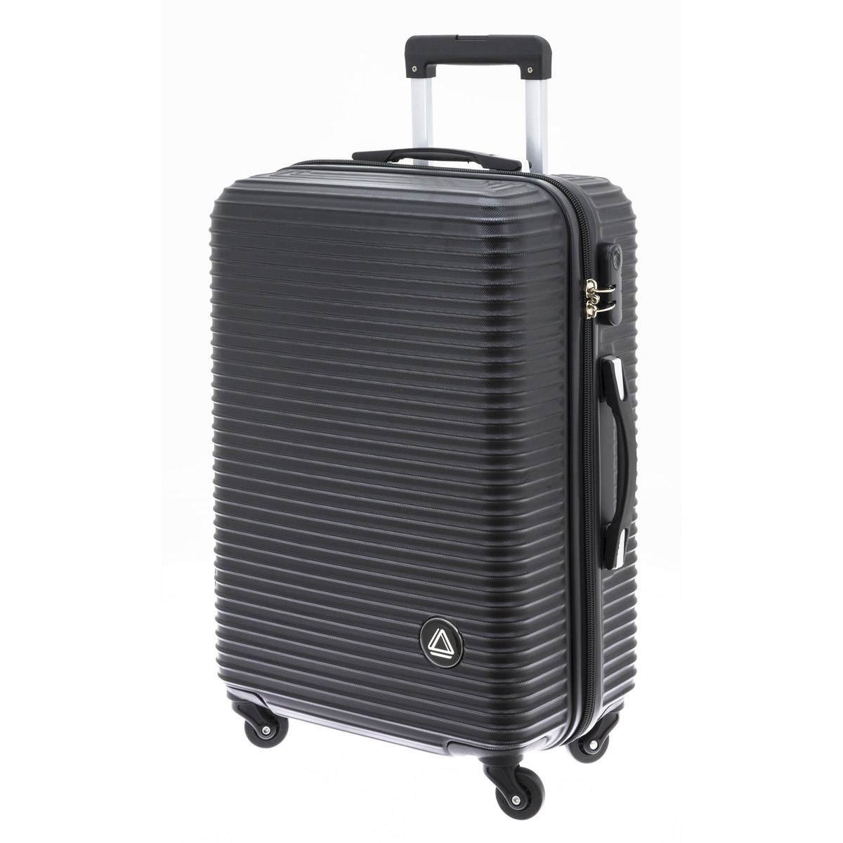 Valise trolley coque ABS \'Davidt\'s\' noir - 65x44x26 cm - [Q9931]