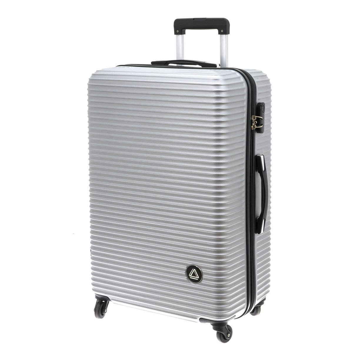 Valise trolley coque ABS \'Davidt\'s\' argenté - 75x49x29 cm - [Q9933]